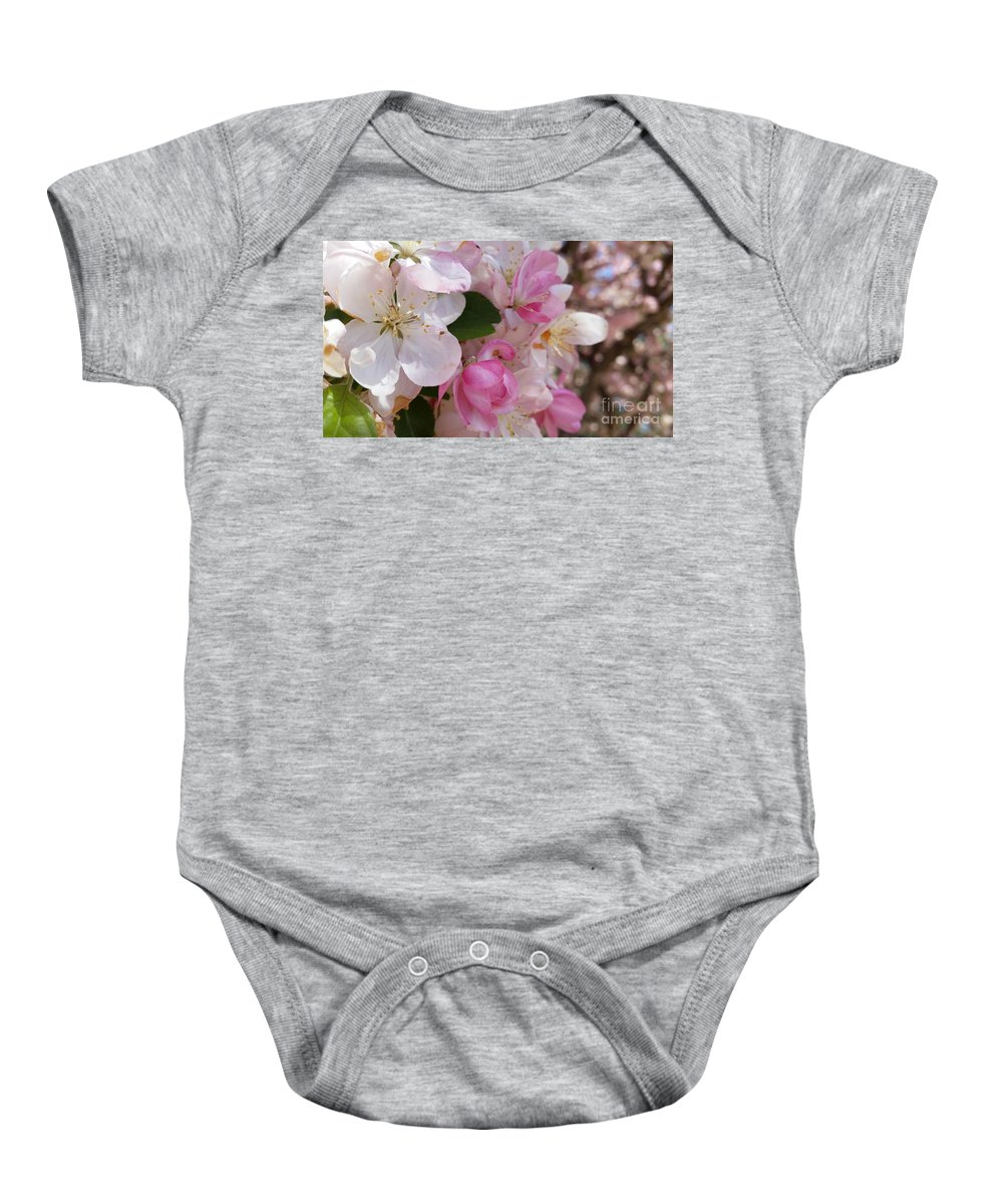 Apple Baby Onesie featuring the photograph You Cant Be Crabby In Spring by Caryl J Bohn