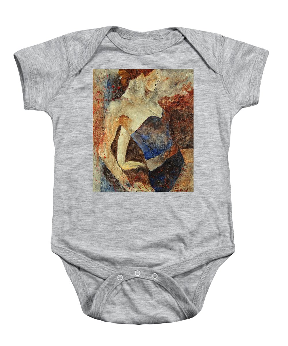 Girl Baby Onesie featuring the painting Young Girl 56901247 by Pol Ledent