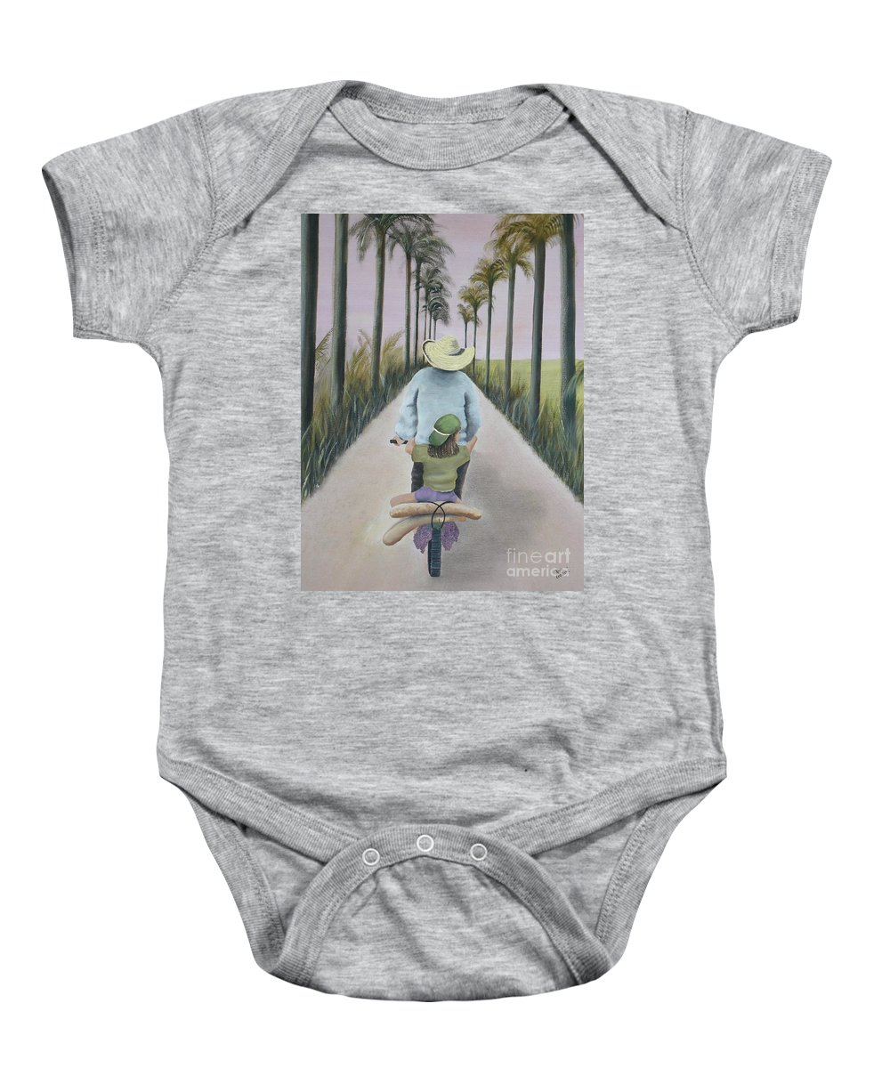 Tropical Baby Onesie featuring the painting You're The Best by Kris Crollard