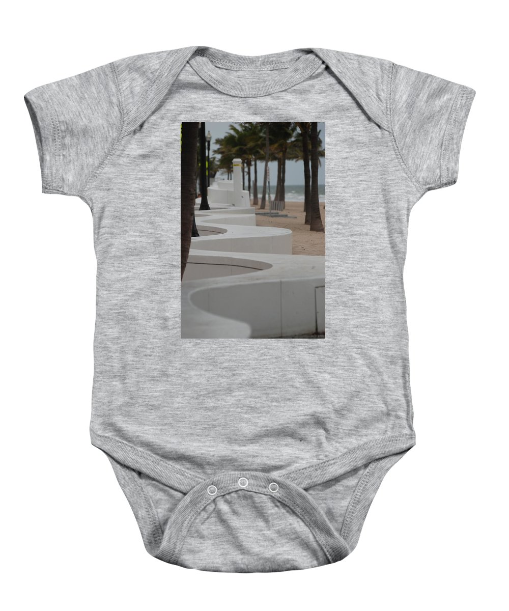 Pop Art Baby Onesie featuring the photograph Zig Zag At The Beach by Rob Hans