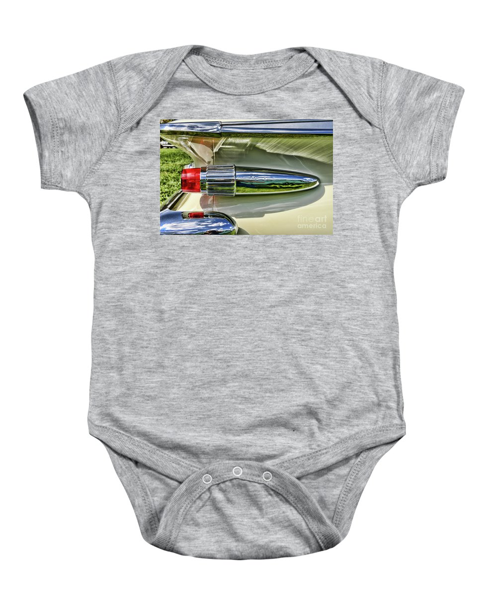 Paul Ward Baby Onesie featuring the photograph 1961 Plymouth Fury by Paul Ward