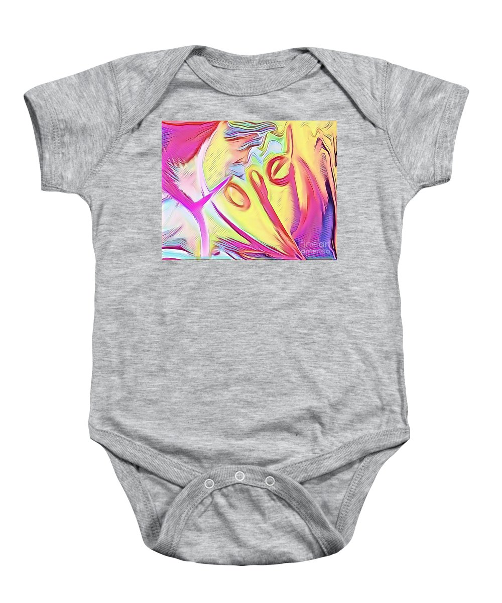 Prophetic Baby Onesie featuring the mixed media Hope by Jessica Eli