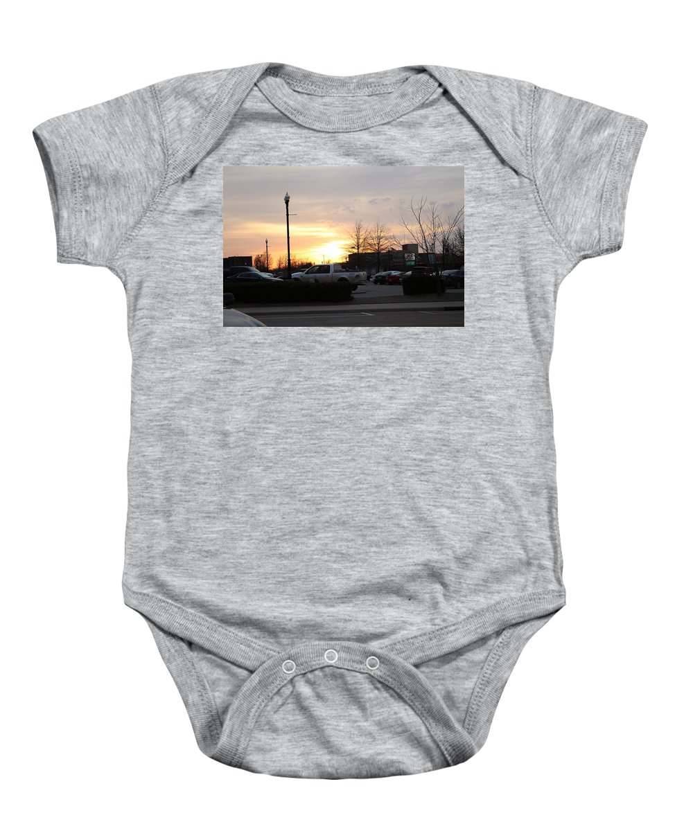 Sunset Baby Onesie featuring the photograph Sunset 7 by Peter McCallum