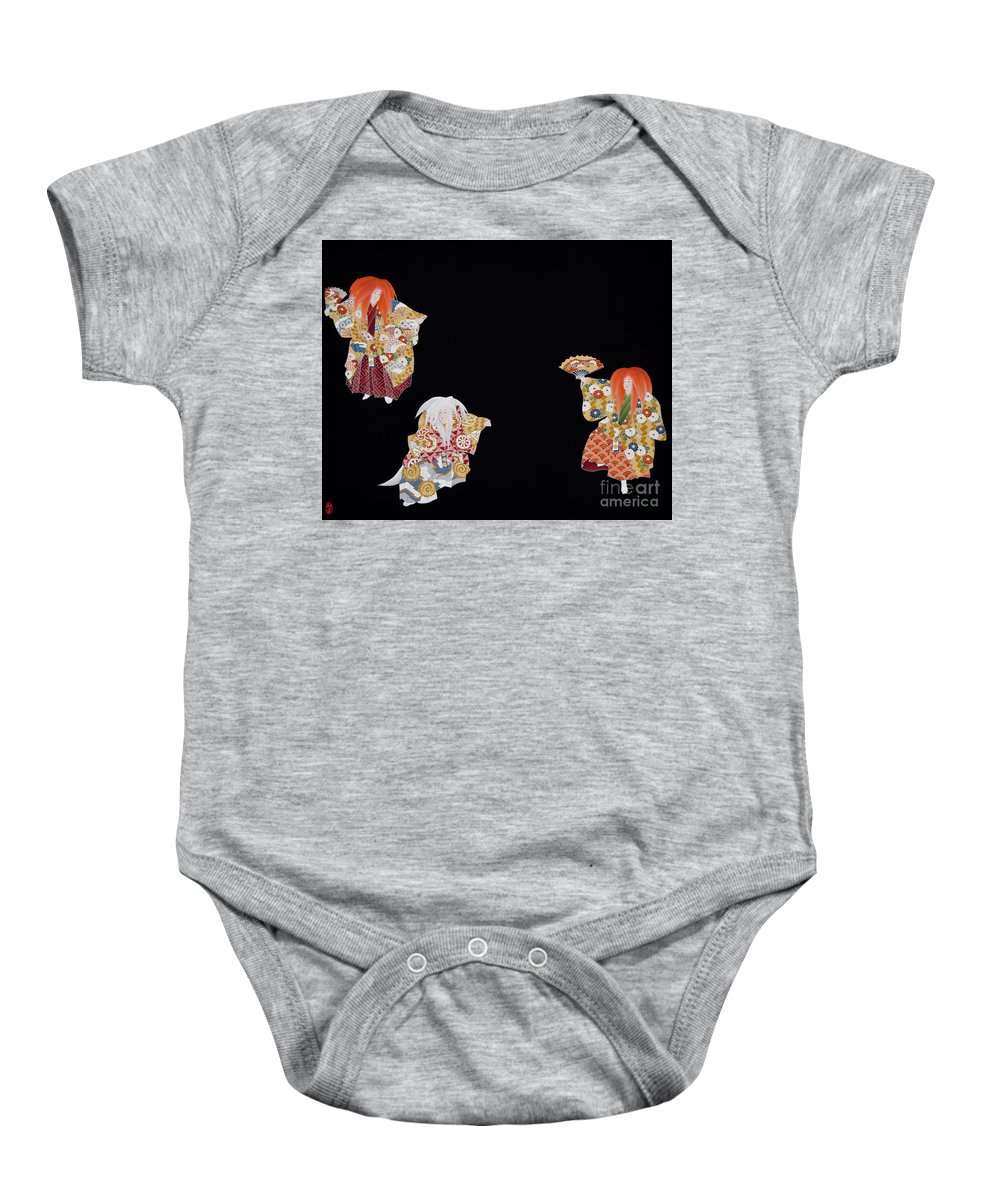 Baby Onesie featuring the tapestry - textile Spirit of Japan T59 by Miho Kanamori