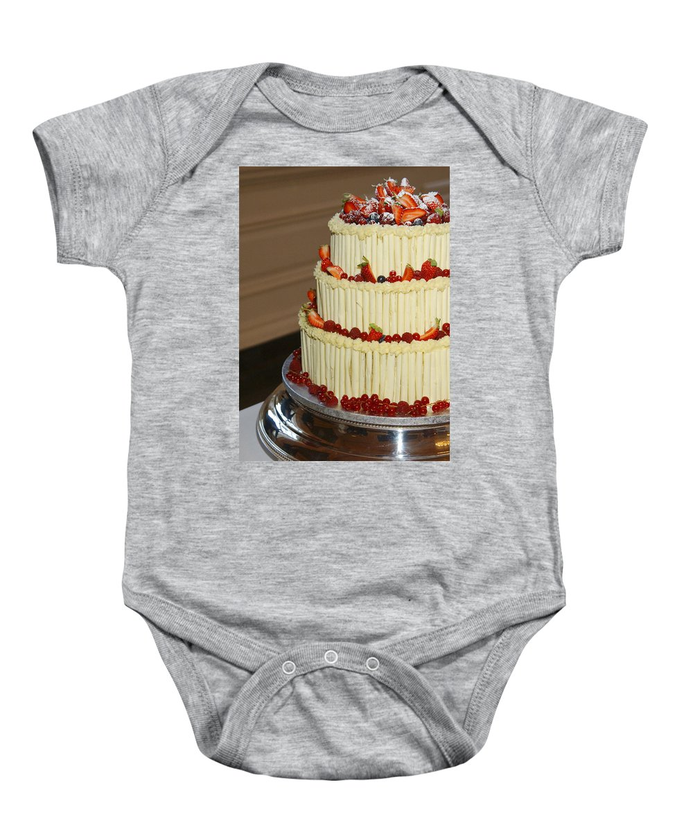 Wedding Baby Onesie featuring the photograph 3 Layer Wedding Cake by Victor Lord Denovan