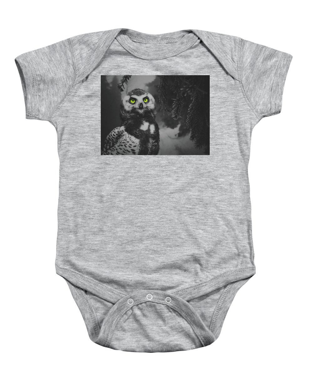 Owl Baby Onesie featuring the photograph Winter Owl by Pixabay