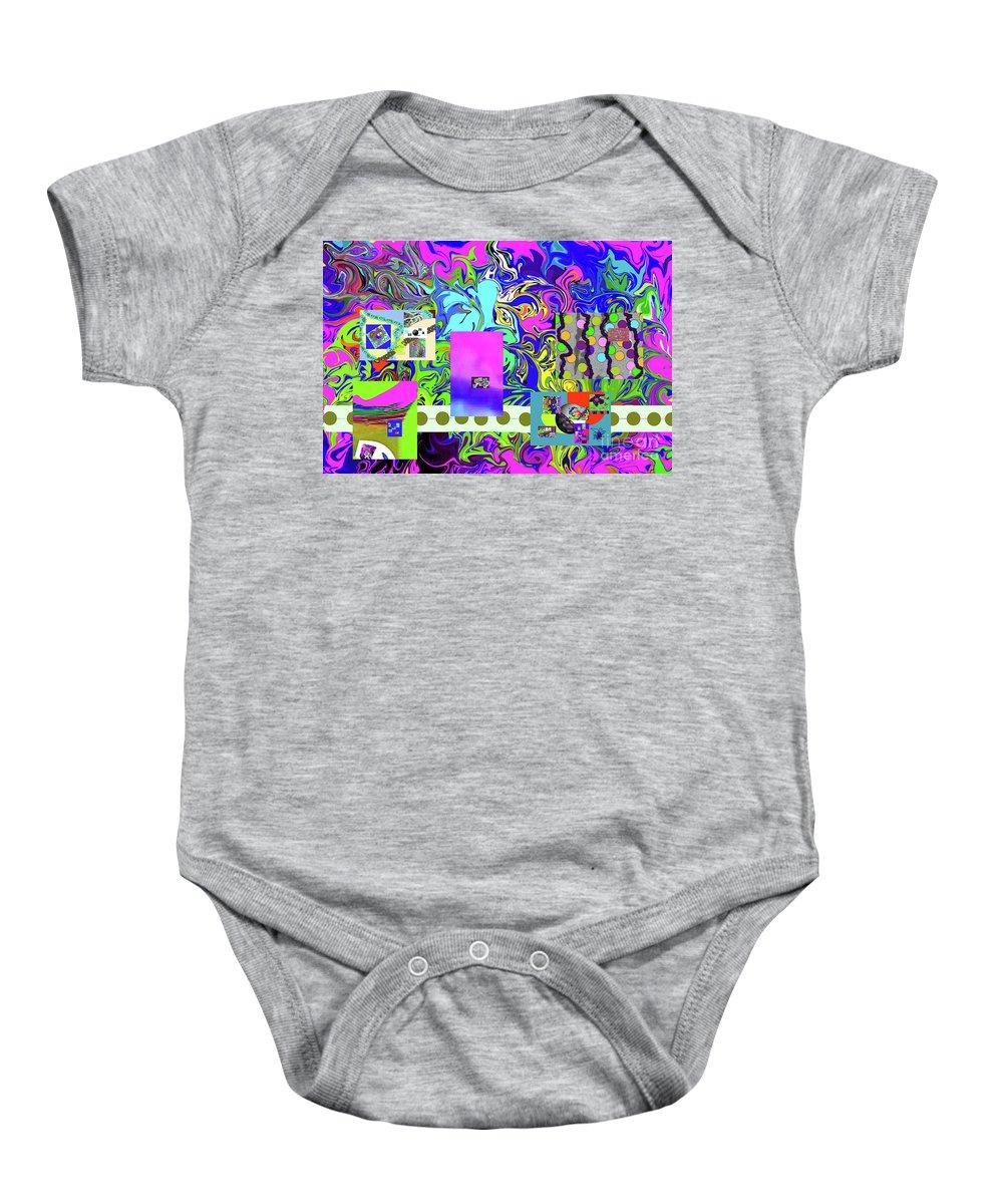 Walter Paul Bebirian Baby Onesie featuring the digital art 9-10-2015babcdef by Walter Paul Bebirian