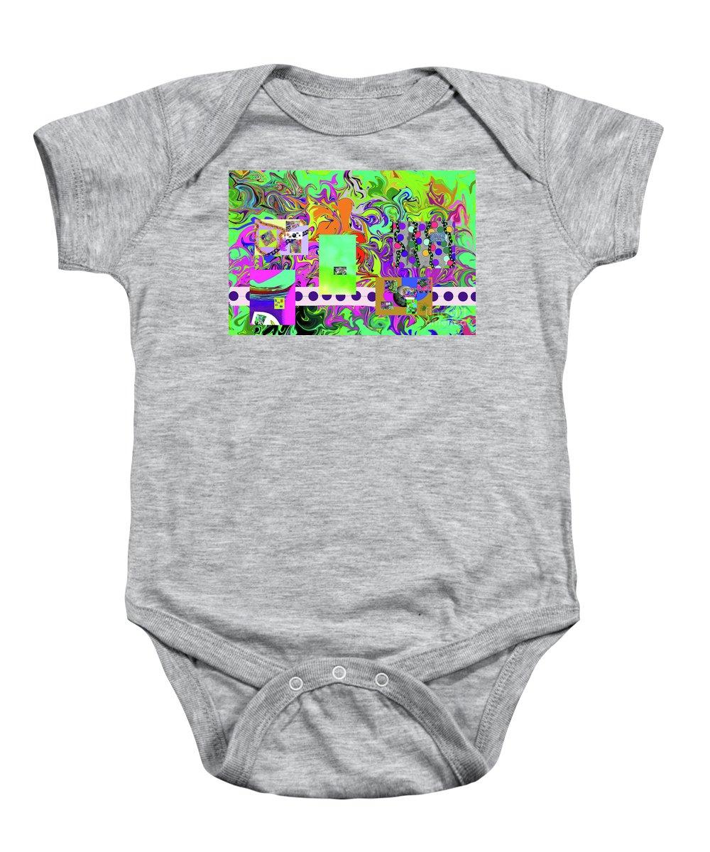 Walter Paul Bebirian Baby Onesie featuring the digital art 9-10-2015babcdefghijklmnopqrtuv by Walter Paul Bebirian