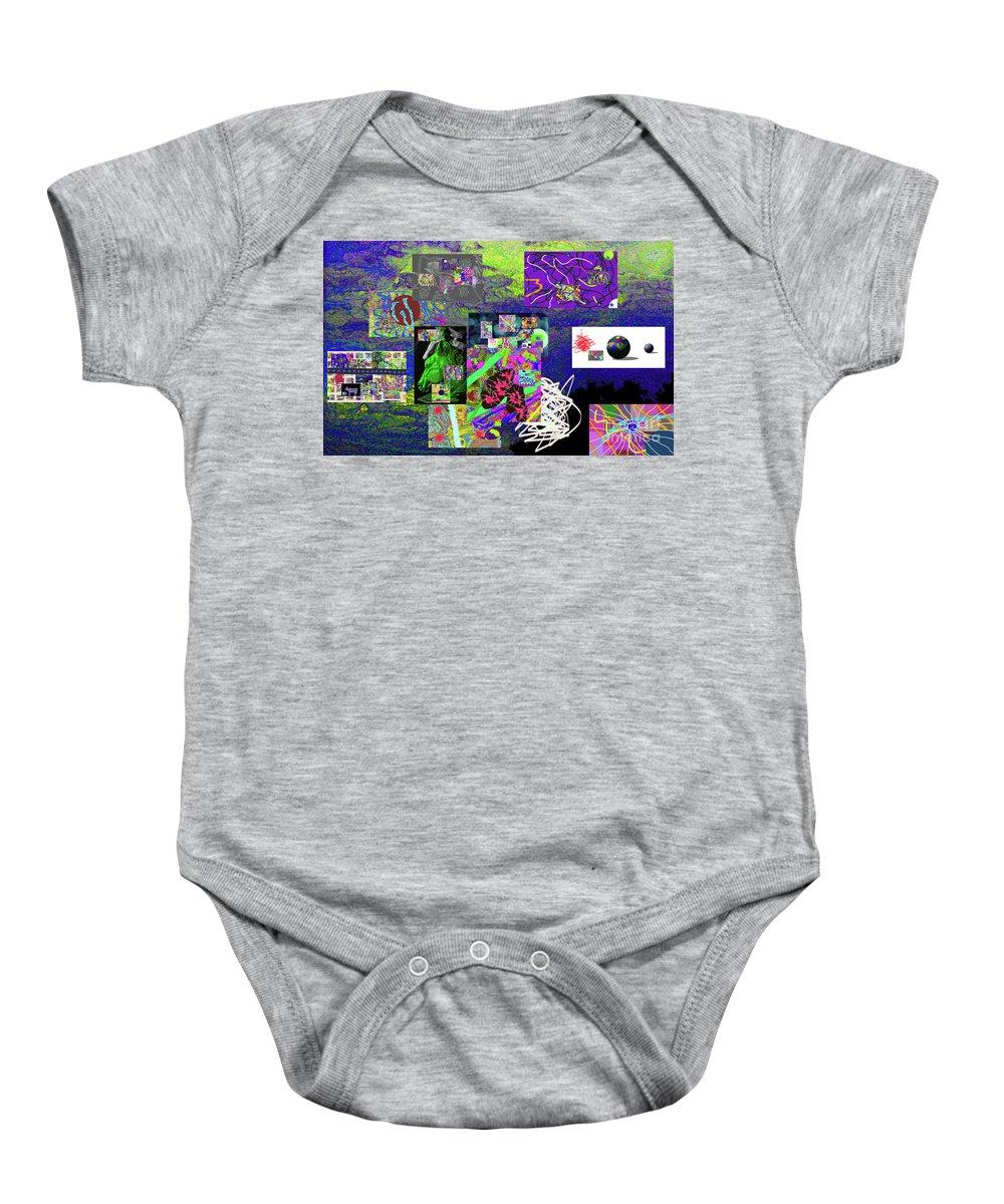 Walter Paul Bebirian Baby Onesie featuring the digital art 9-12-2015abcdefghijklmnopqrtuv by Walter Paul Bebirian