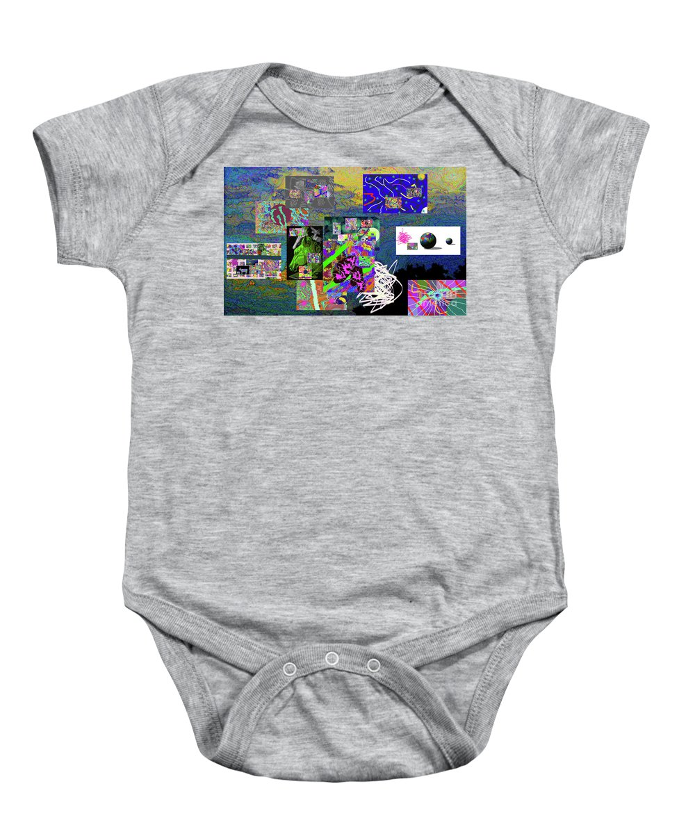 Walter Paul Bebirian Baby Onesie featuring the digital art 9-12-2015abcdefghijklmnopqrtuvwxy by Walter Paul Bebirian