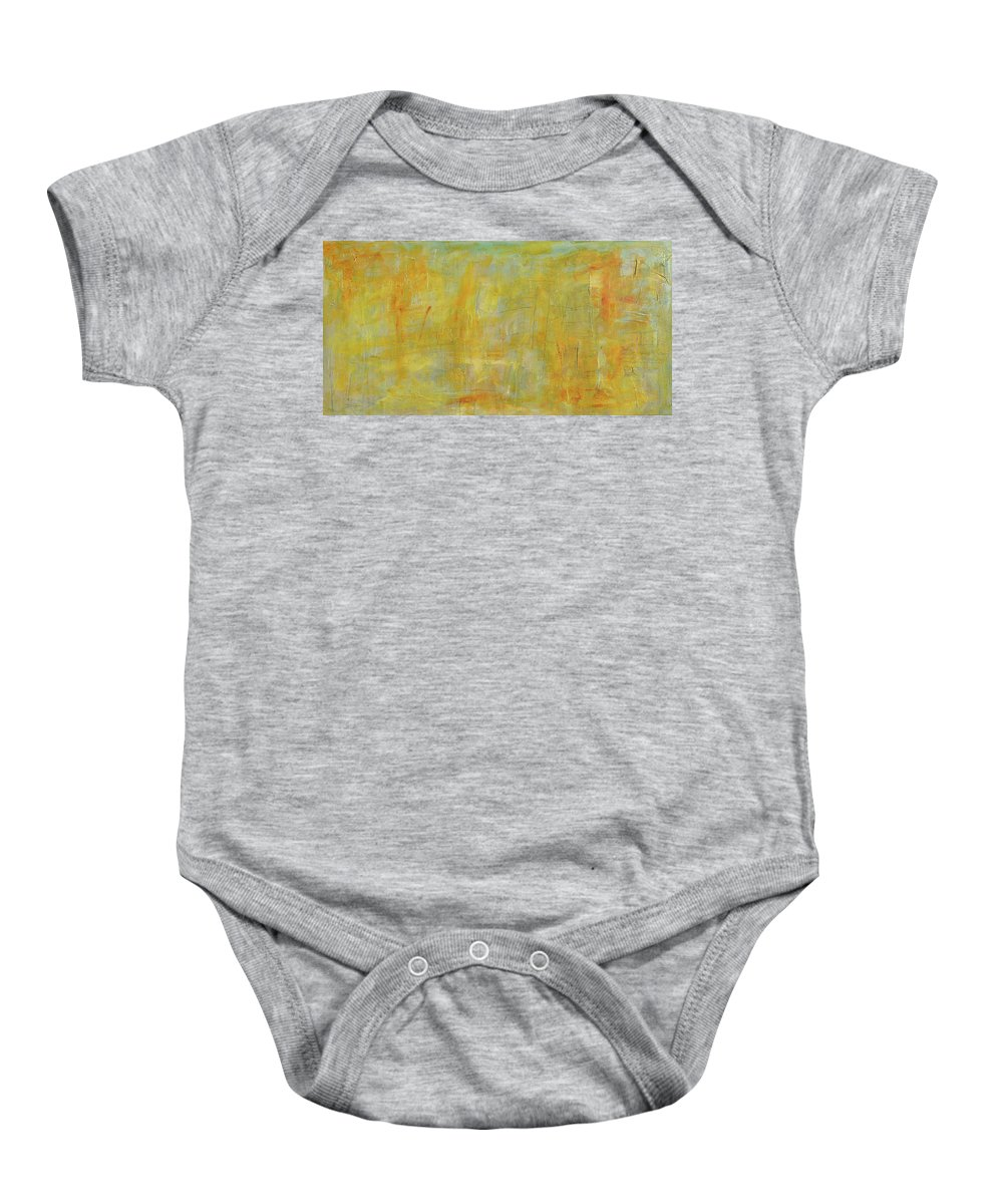 Top Baby Onesie featuring the painting A Song In Stone That Sings by Paulette B Wright