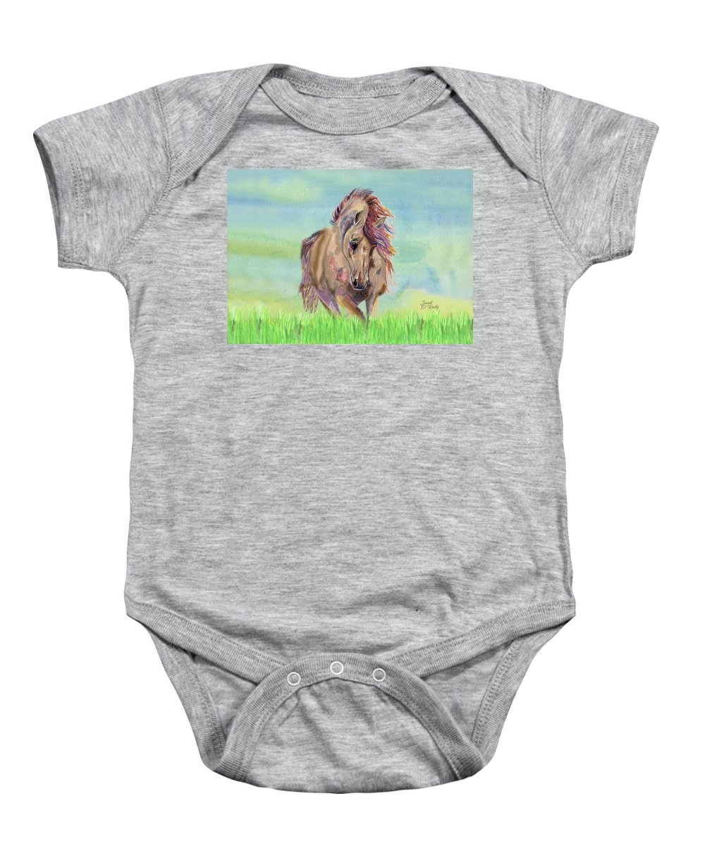 Beautiful Horse Running Free 2 Onesie For Sale By Sandi Oreilly