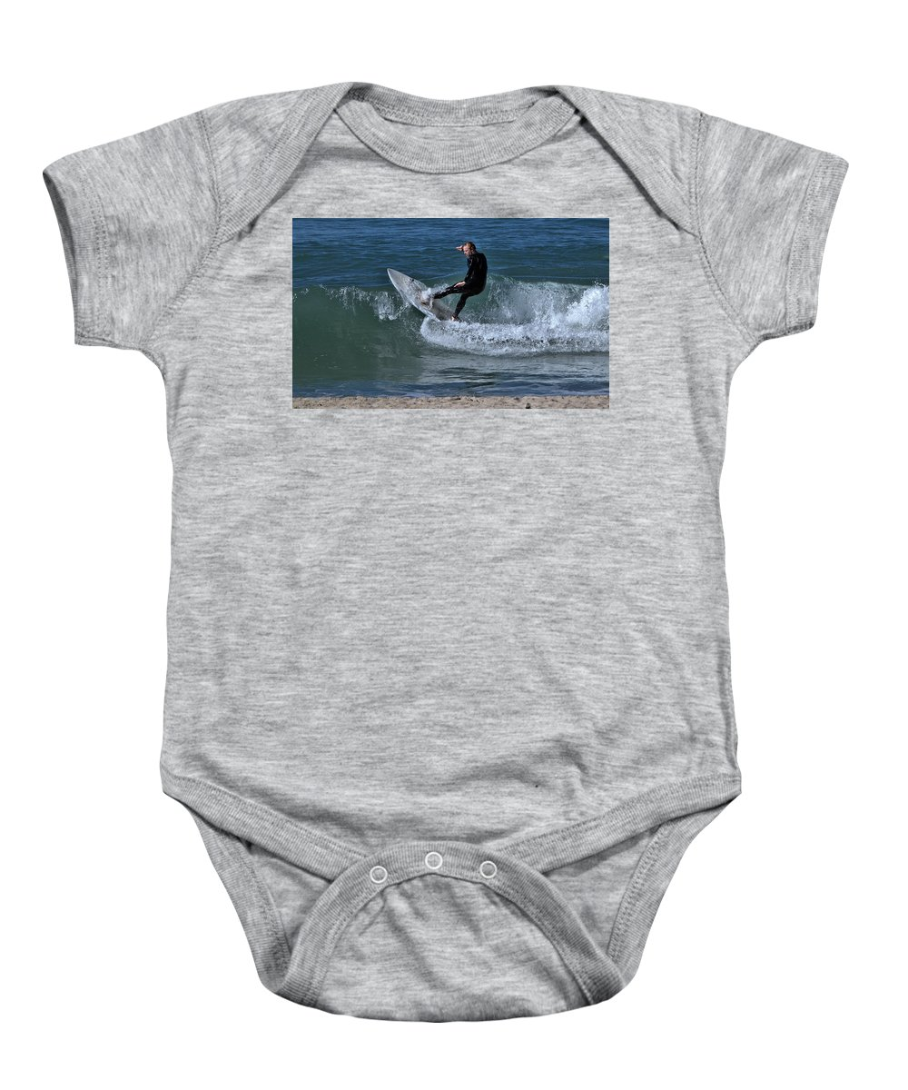 Ventura Baby Onesie featuring the photograph Breaking by Michael Gordon