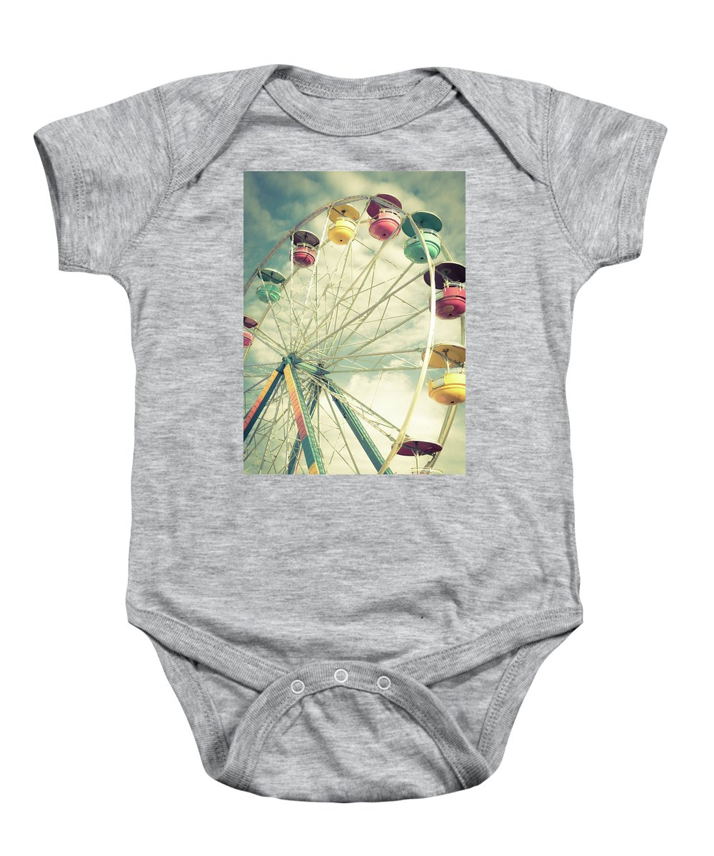 Vacation Baby Onesie featuring the photograph Carolina Beach Ferris Wheel by Anthony Doudt