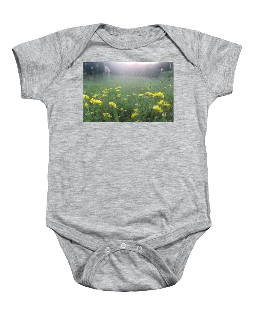 Wild Flowers Baby Onesie featuring the photograph Catching Ray's by Brittany Galipeau