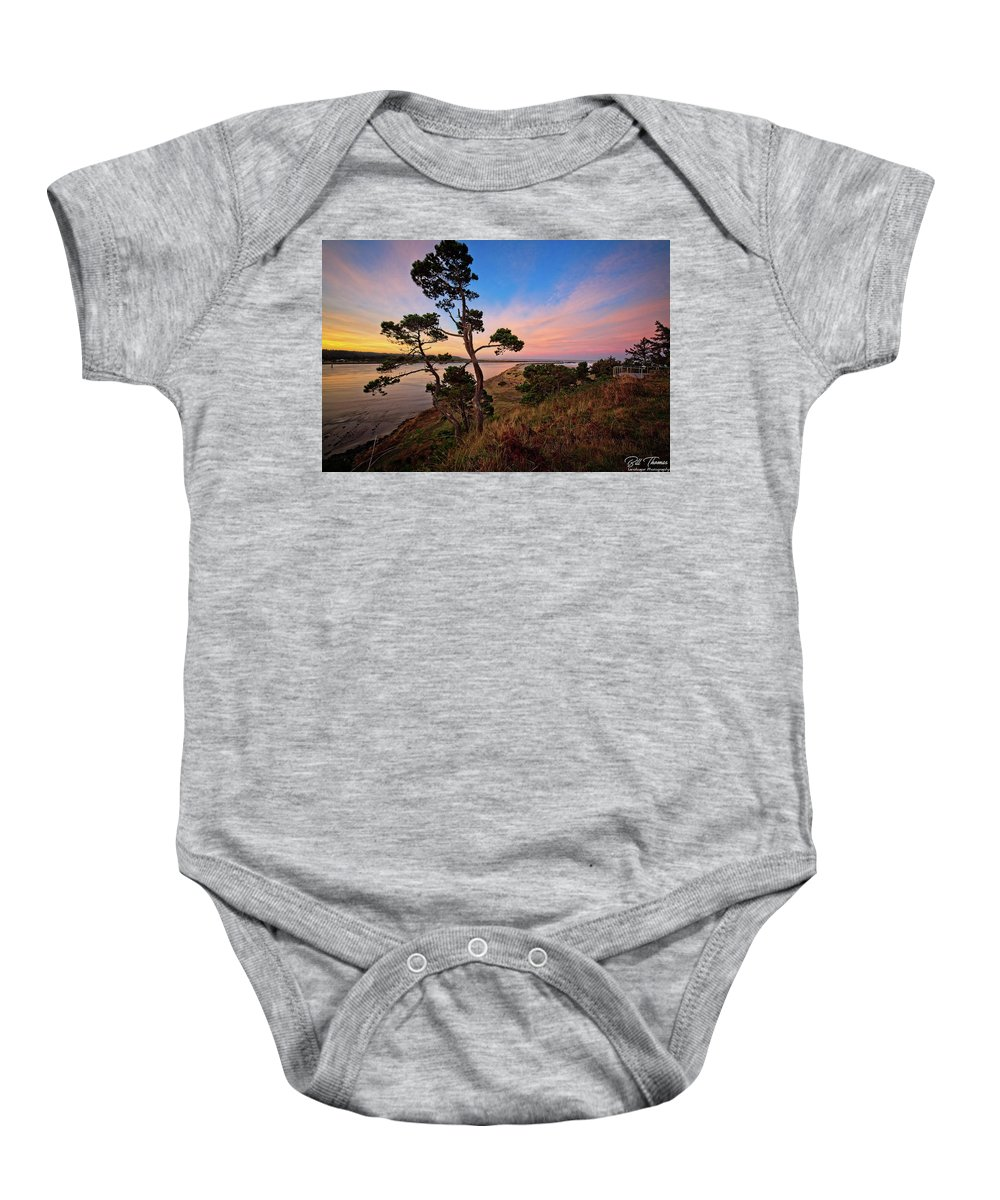 Columbia River Baby Onesie featuring the photograph Columbia River Sunrise by Bill Thomas