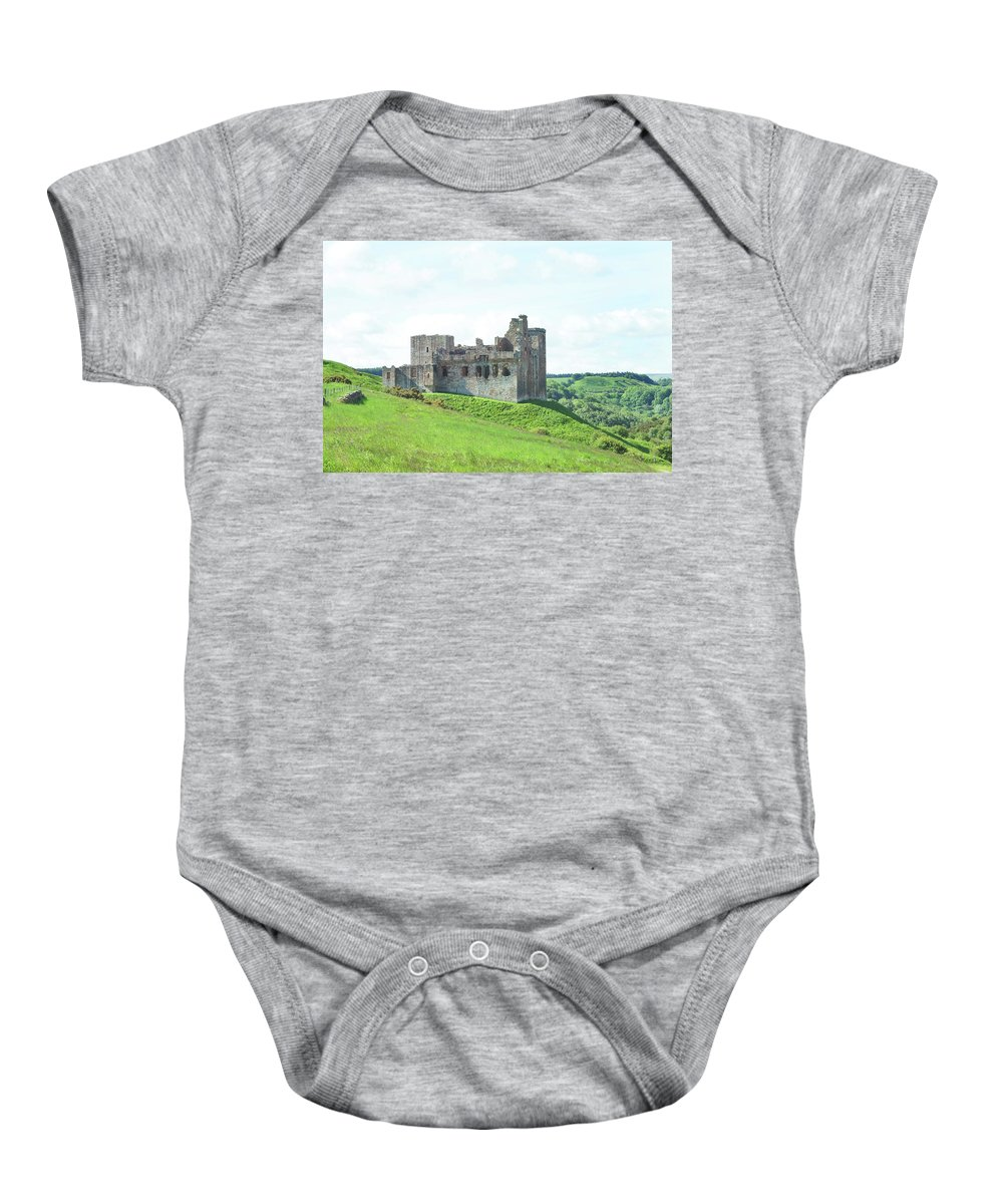 Castle Baby Onesie featuring the photograph Crighton Castle In Summer by Victor Lord Denovan