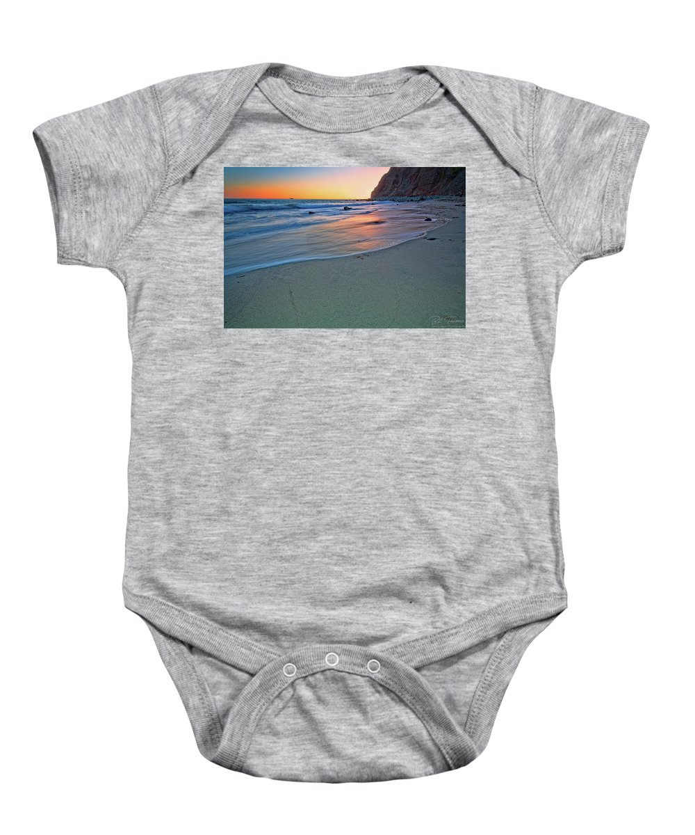 Sunset Baby Onesie featuring the photograph Dana Point Sunset by Bill Thomas