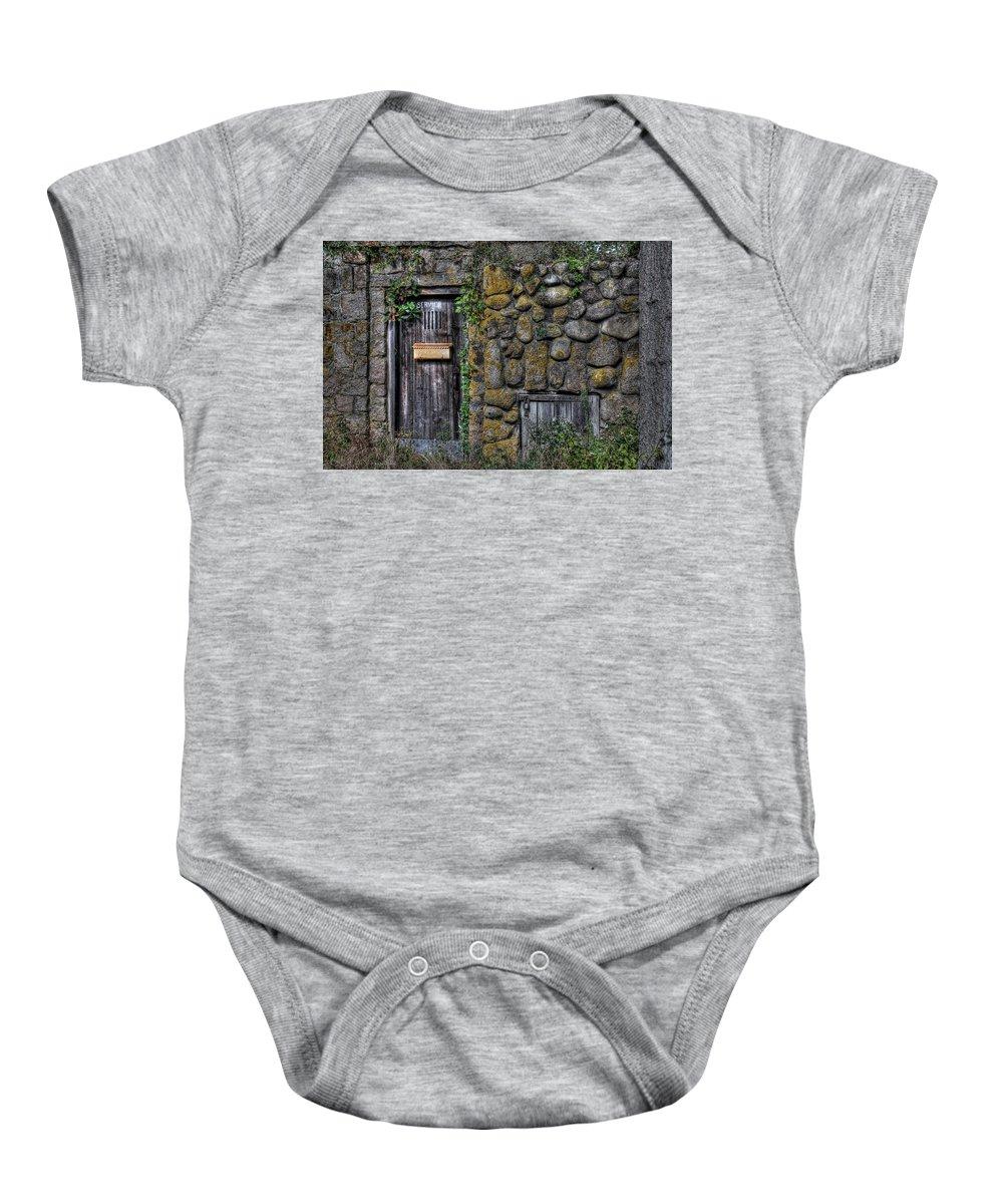Stone Baby Onesie featuring the photograph Doorway Through Time by Liz Mackney