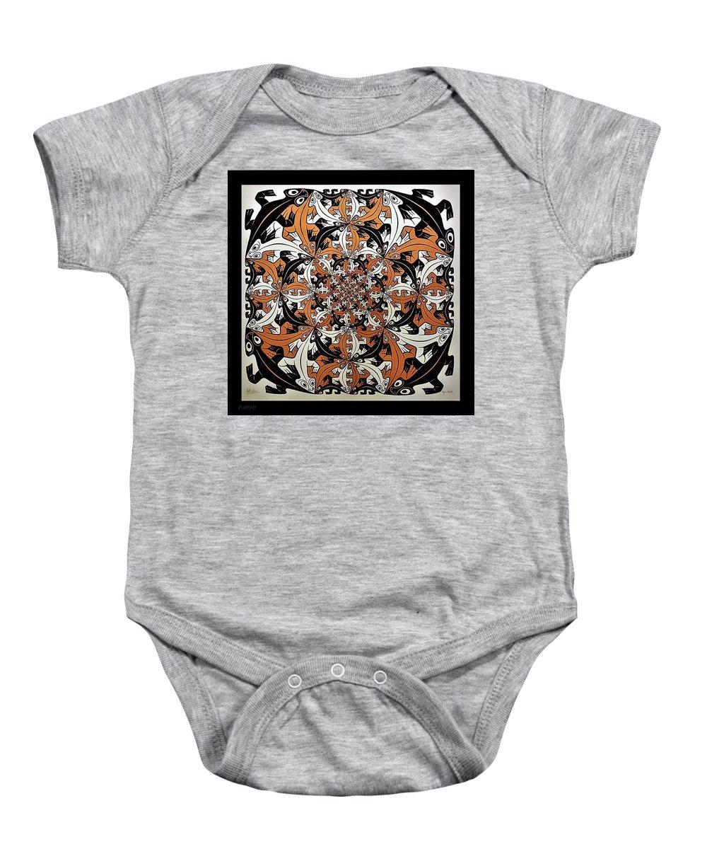 Maurits Cornelis Escher Baby Onesie featuring the photograph Escher 65 by Rob Hans