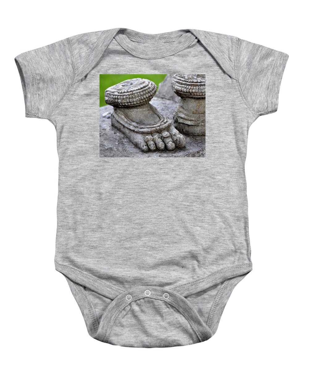 Remaining Baby Onesie featuring the digital art Feet Only by Bliss Of Art