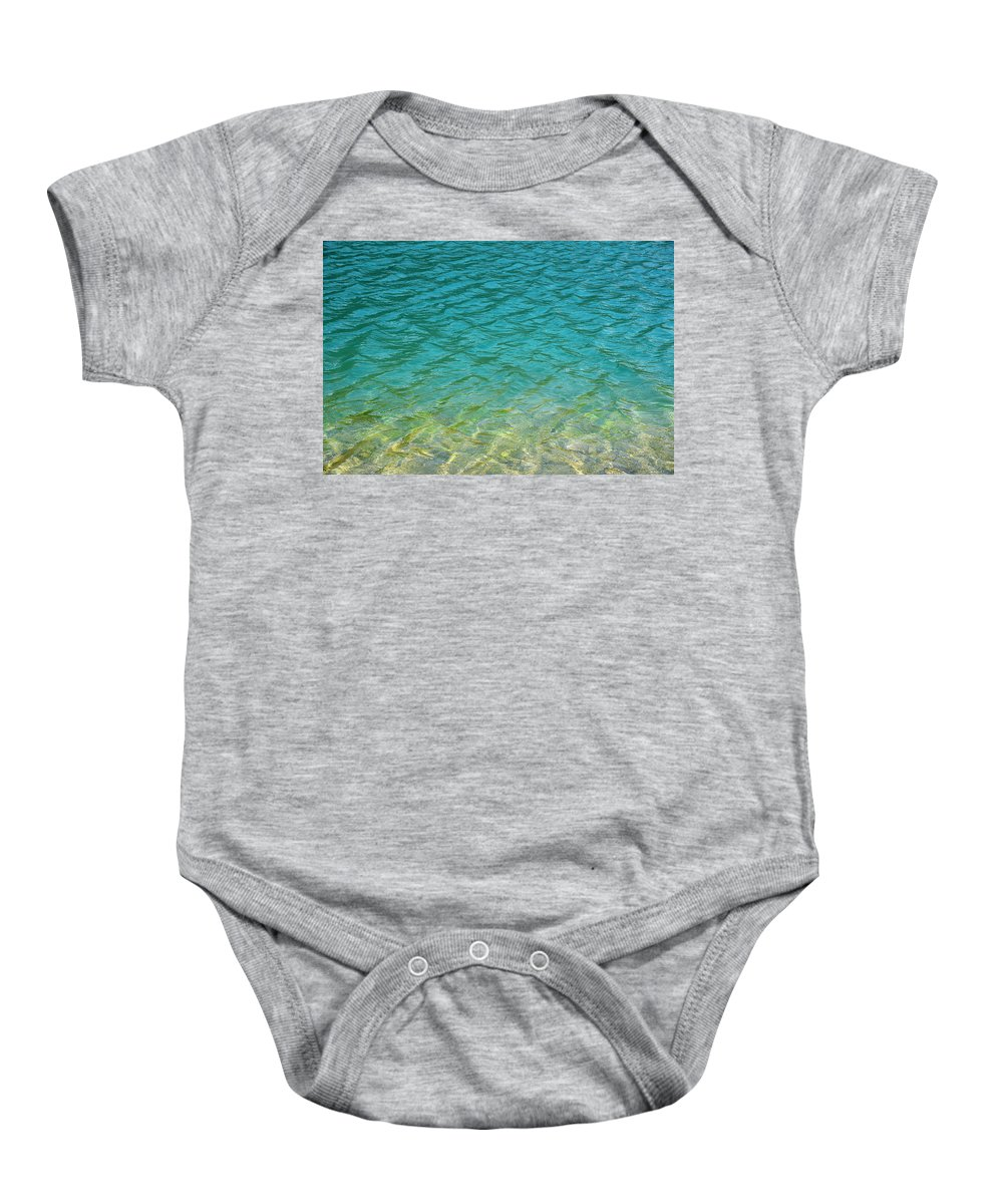 Reflection Baby Onesie featuring the photograph Glacial Depths by Brian Stricker