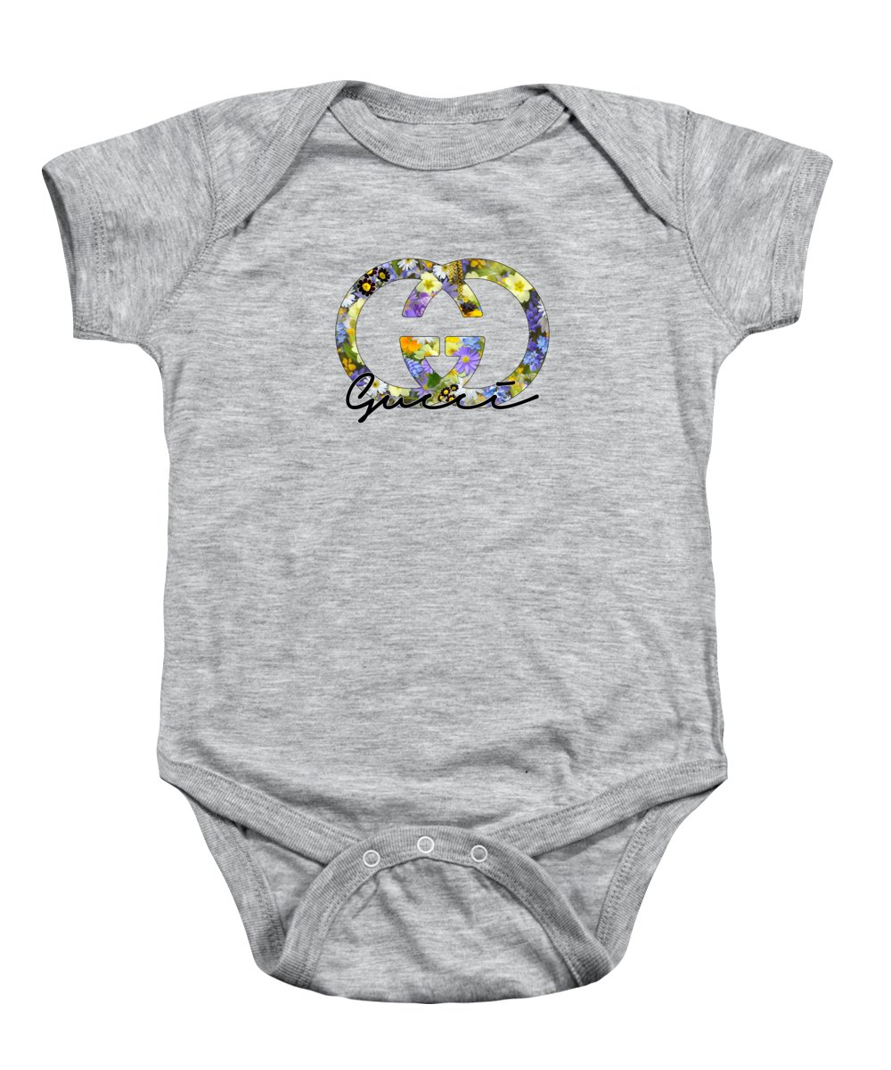 Gucci Baby Onesie featuring the photograph Gucci Floral Series by Ricky Barnard