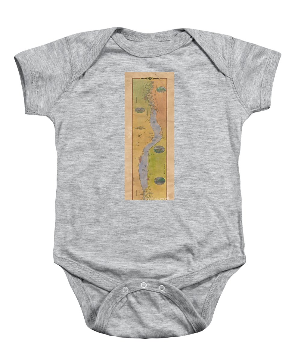 Lake Pepin Baby Onesie featuring the painting Lake Pepin by Lisa Middleton