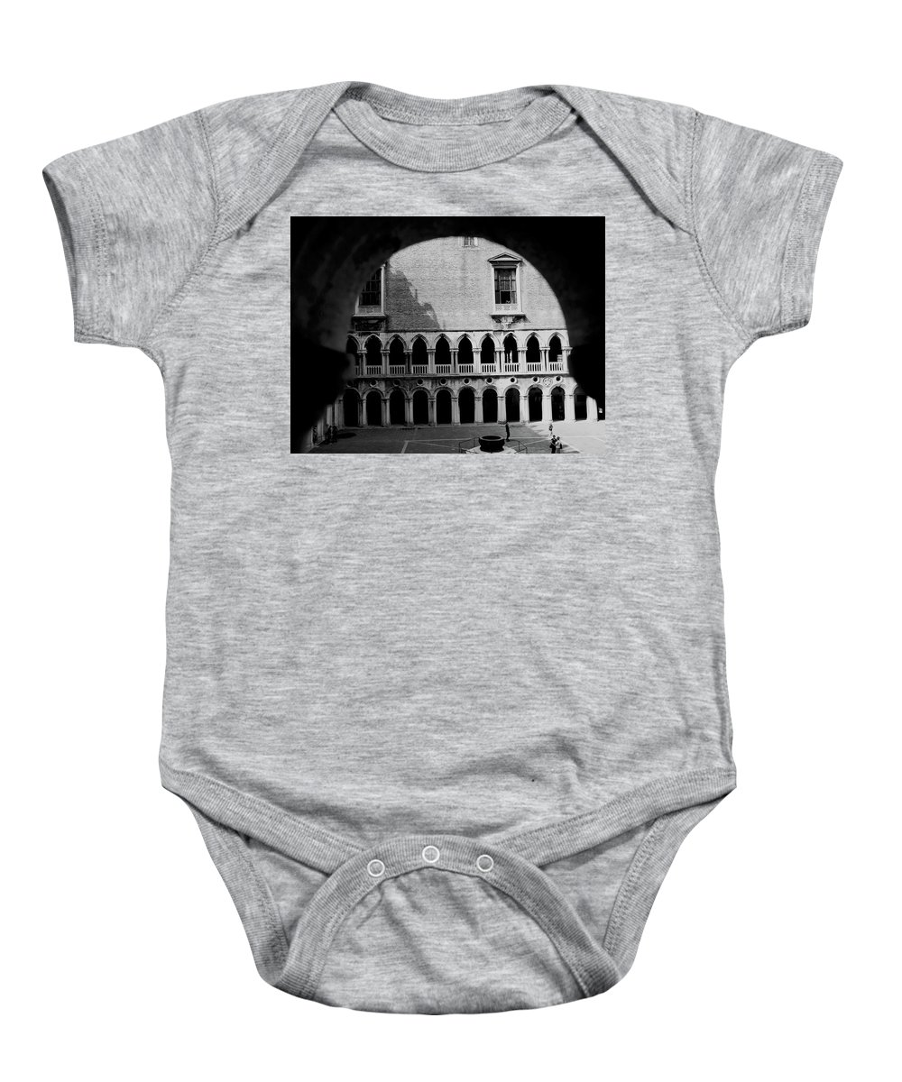 Arches Baby Onesie featuring the photograph Looking Out by Romaisa Hashmi