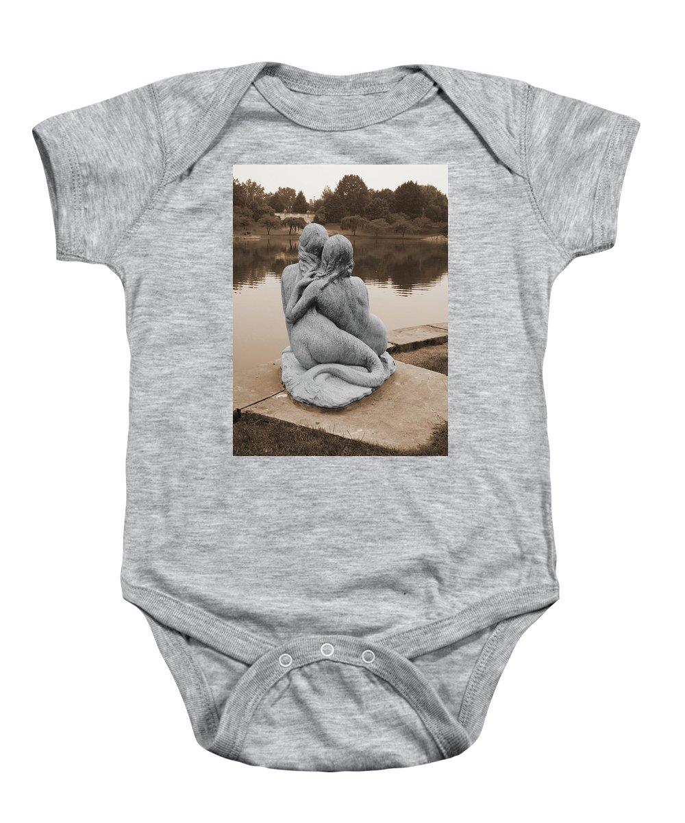 Mermaids Baby Onesie featuring the photograph Mermaids by Terri Harper