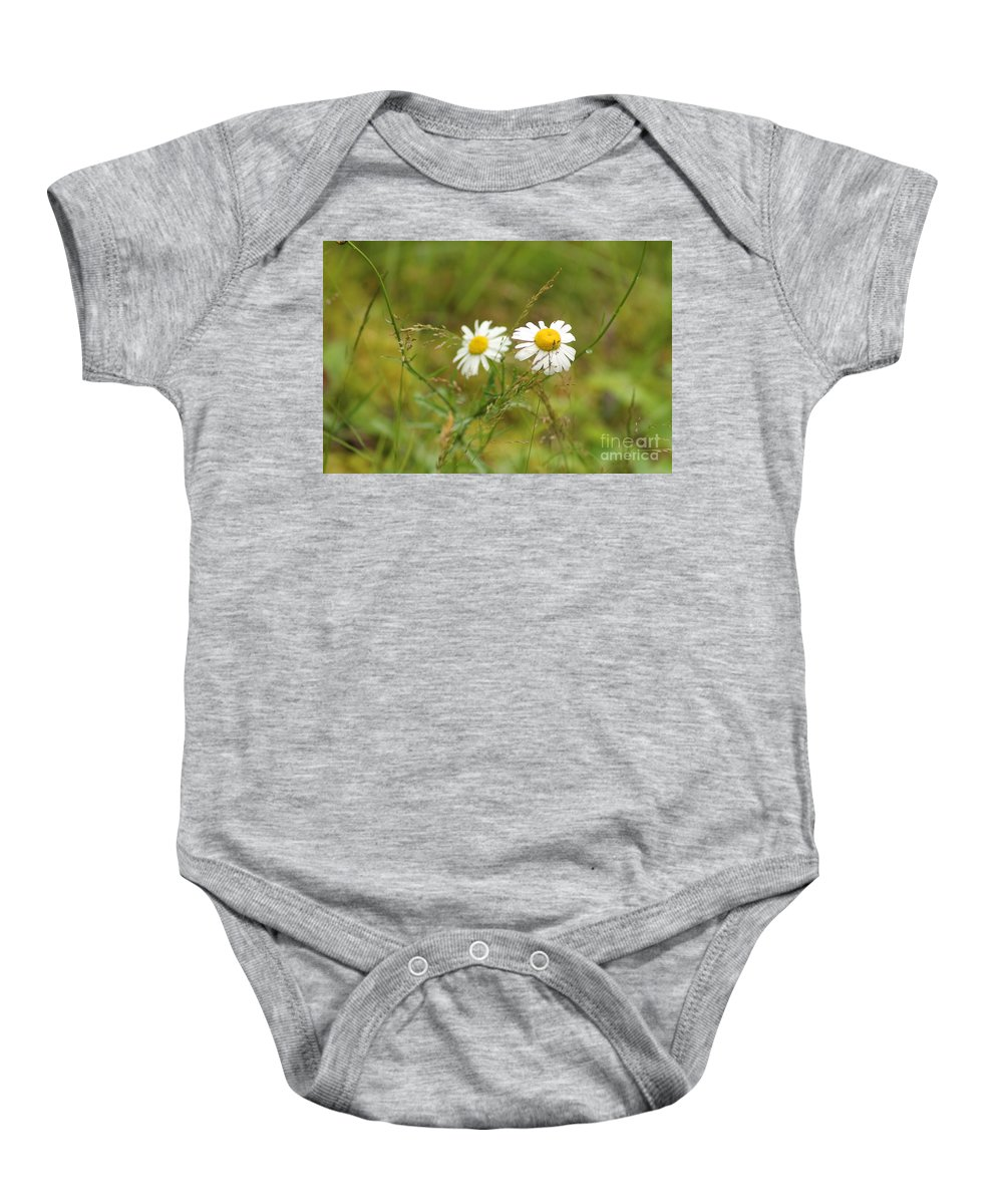 Flowers Baby Onesie featuring the photograph Mirror Image by Leone Lund