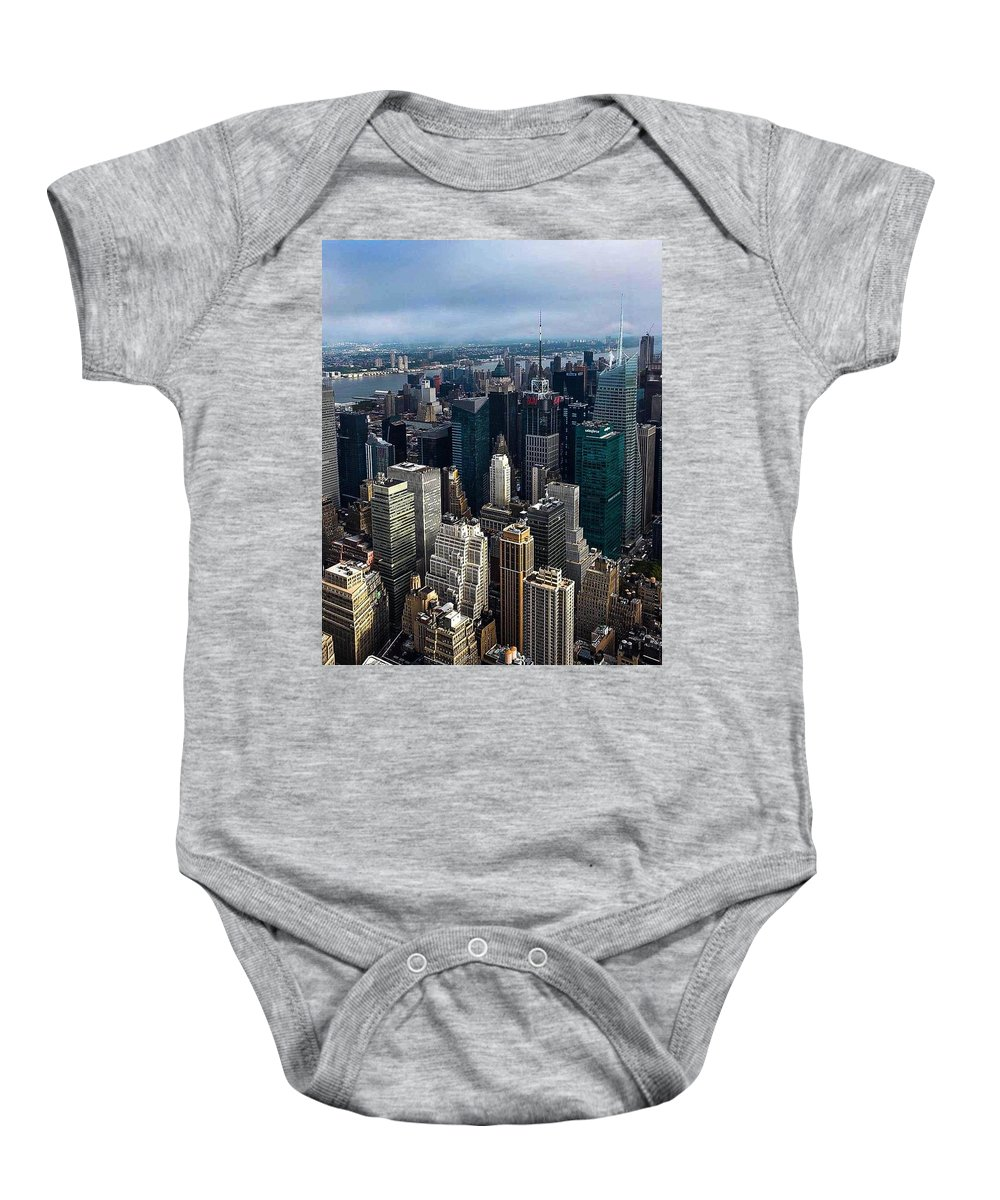 New York City Baby Onesie featuring the photograph Morning In The City by Sonia Pizzinelli