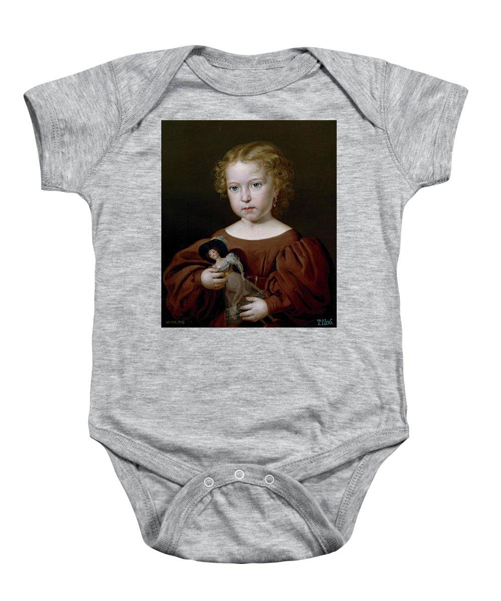 Tegeo Diaz Rafael Baby Onesie featuring the painting  Ngela Tegeo  by Tegeo Diaz Rafael