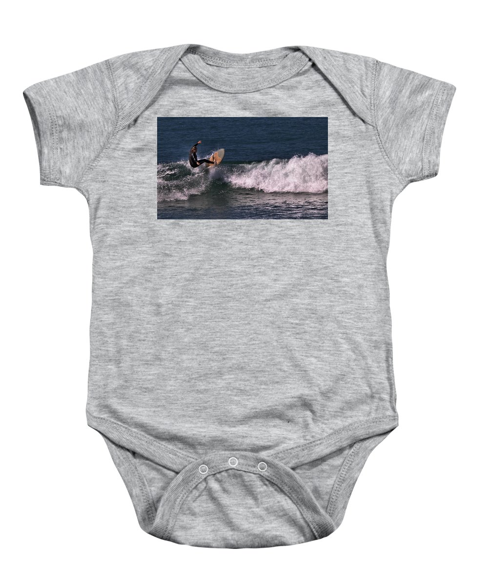 Ventura Baby Onesie featuring the photograph On End by Michael Gordon