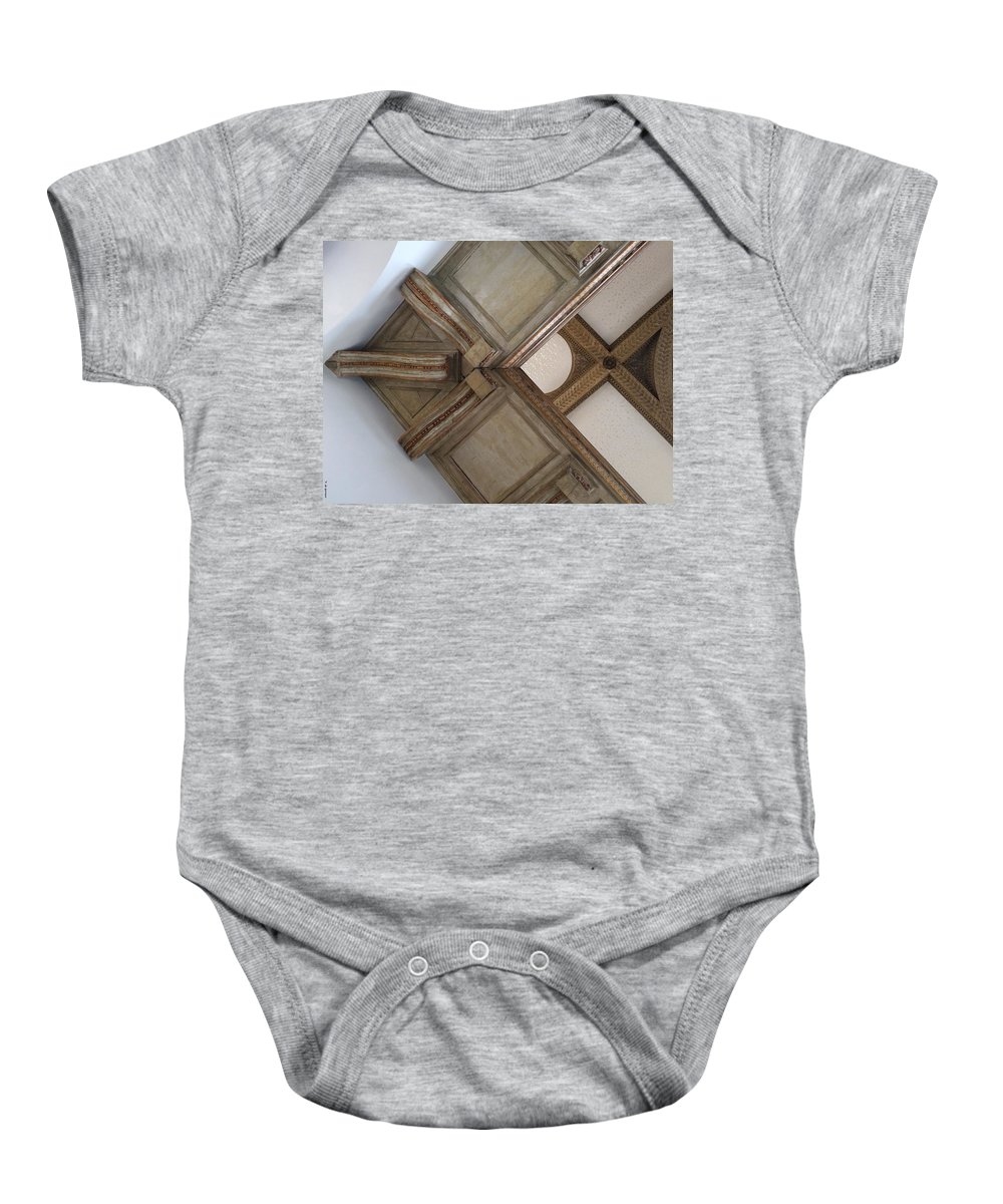 Wood Baby Onesie featuring the photograph Wood Ornament by Vera De Gernier