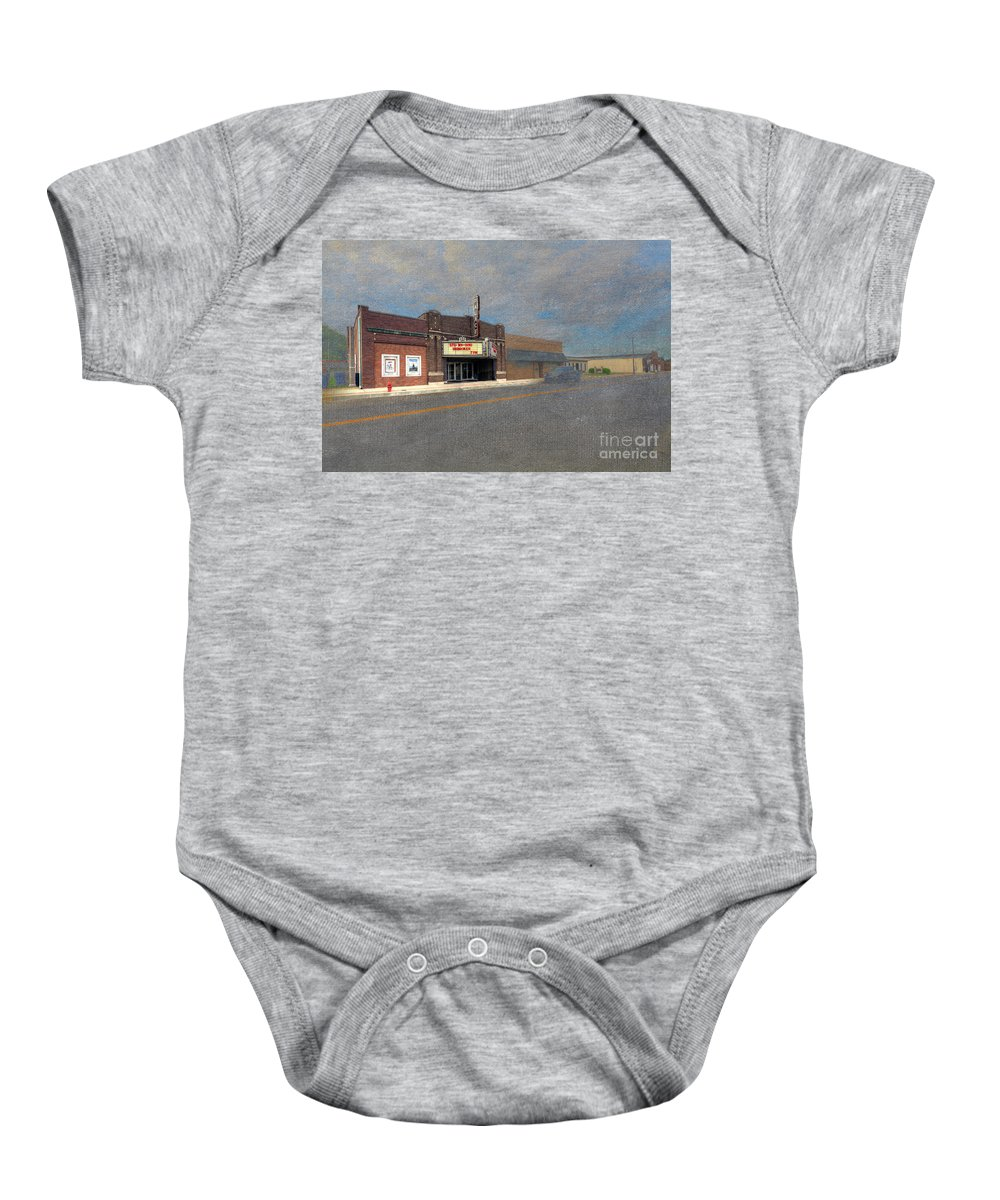 Hdr Baby Onesie featuring the digital art Palace Theater by Larry Braun