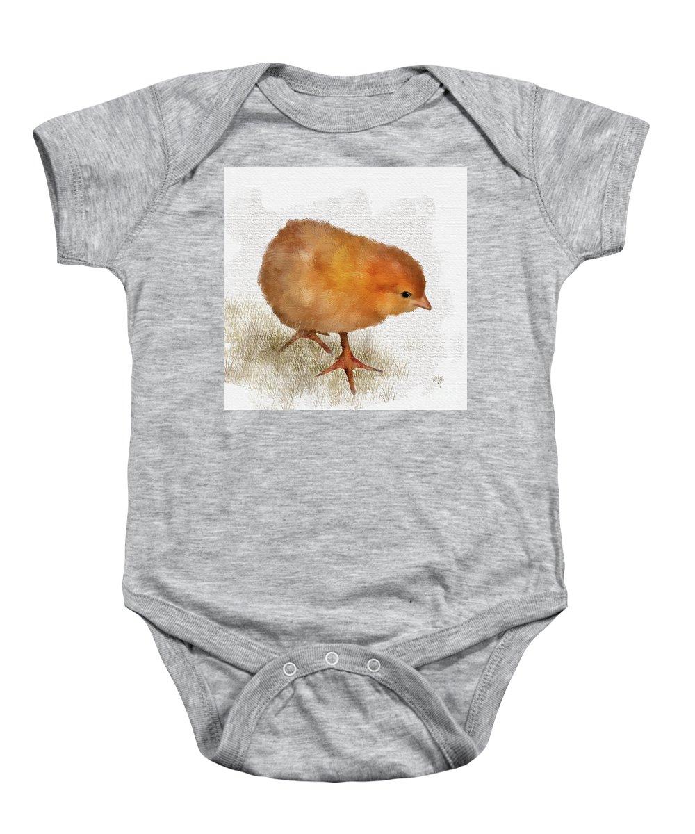 Bird Baby Onesie featuring the digital art Peep Peep by Lois Bryan