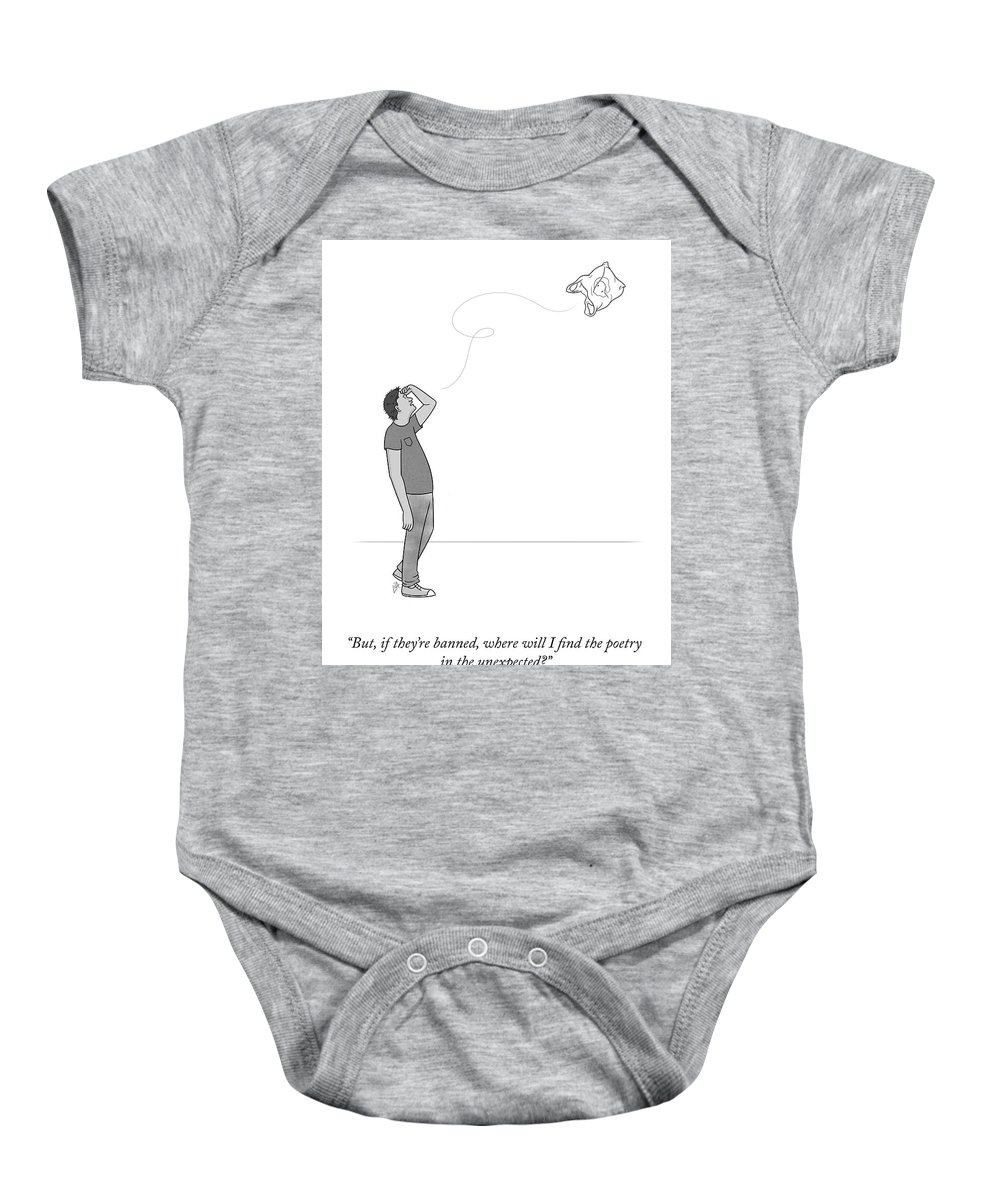 But Baby Onesie featuring the drawing Poetry In The Unexpected by Lila Ash