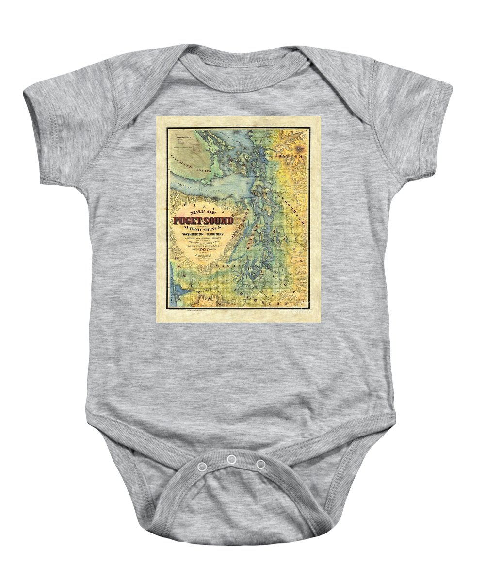 Puget Sound Baby Onesie featuring the painting Puget Sound by Lisa Middleton