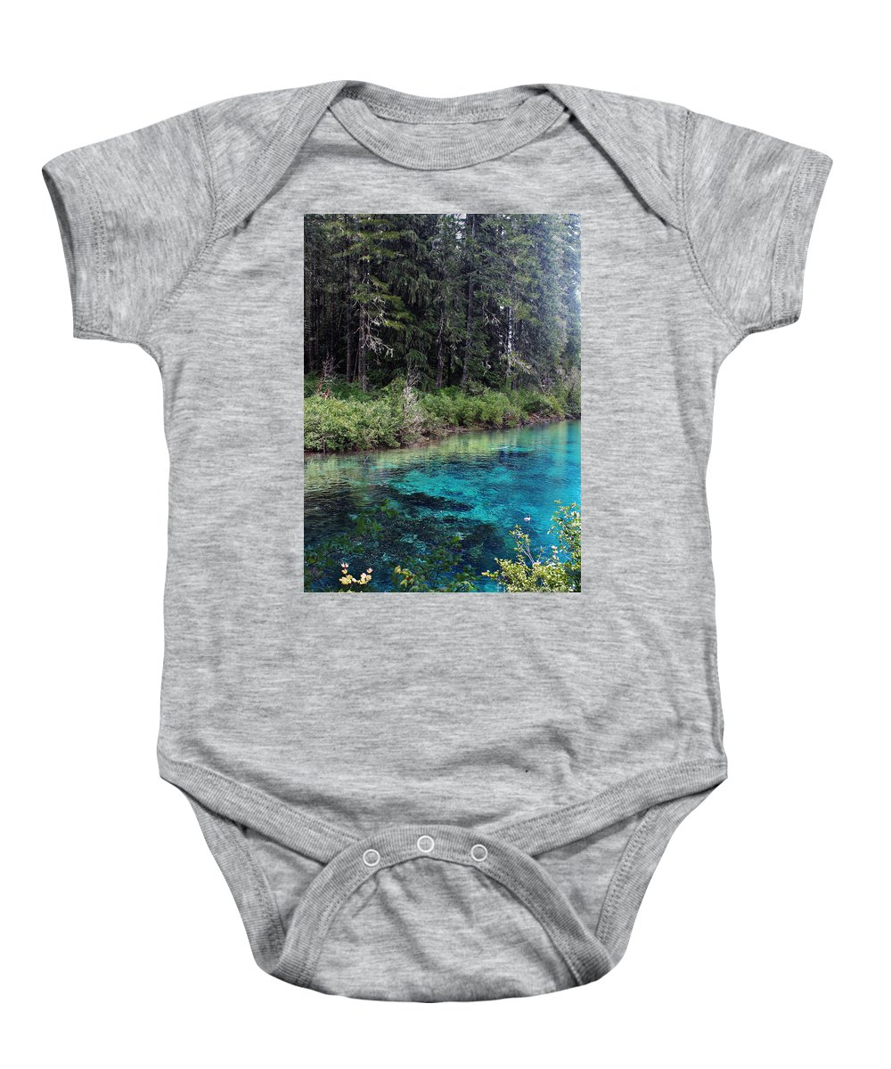 Nature Baby Onesie featuring the photograph Seraph's Spring by Michelle Williamson