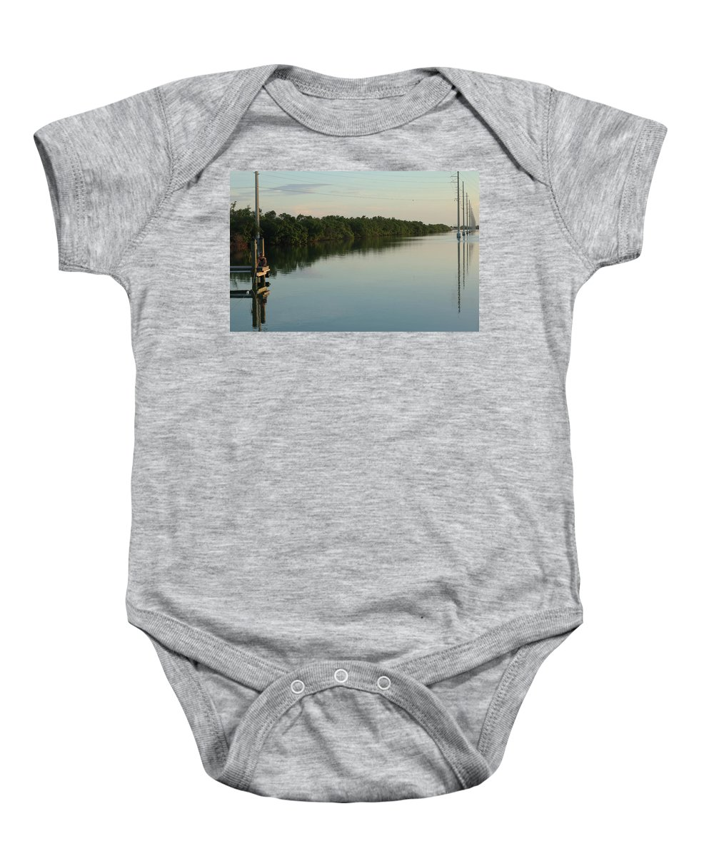 Baby Onesie featuring the photograph Someone On The Other Dock by C Frank