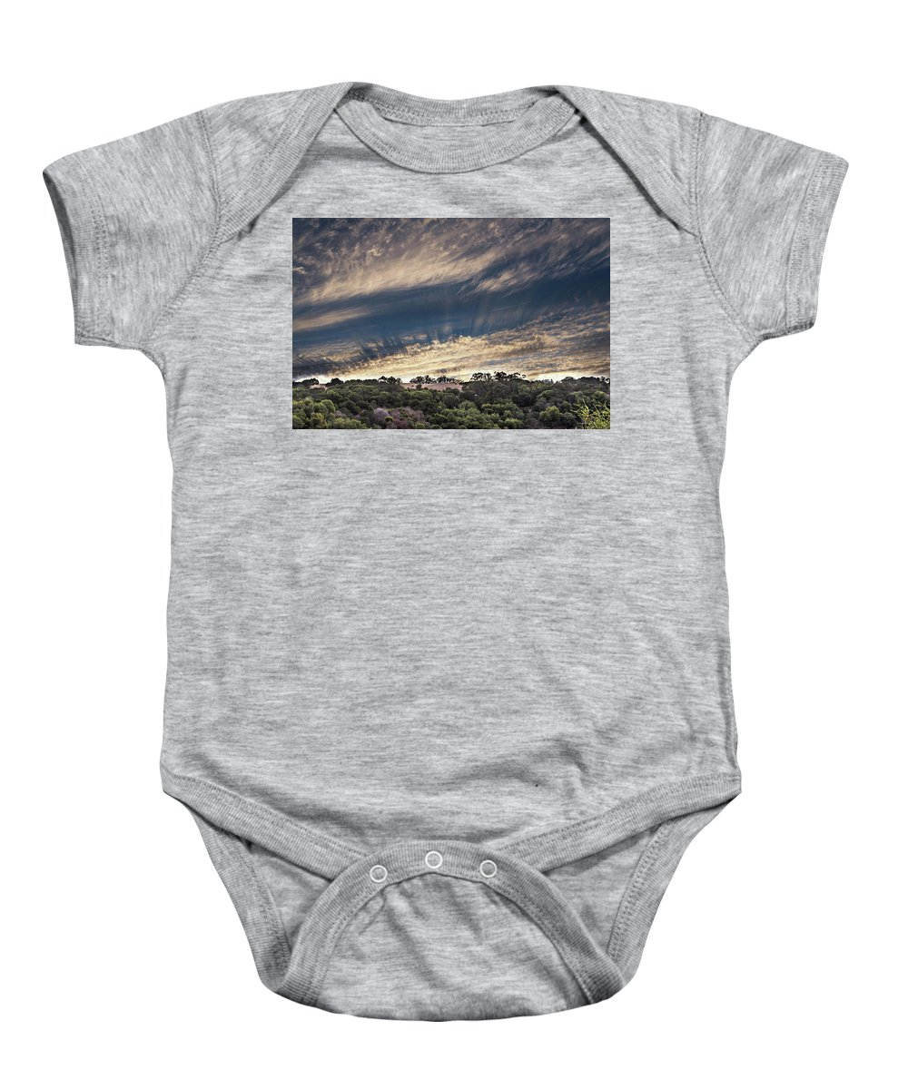 Sun Baby Onesie featuring the photograph Sun Rays by Tran Boelsterli