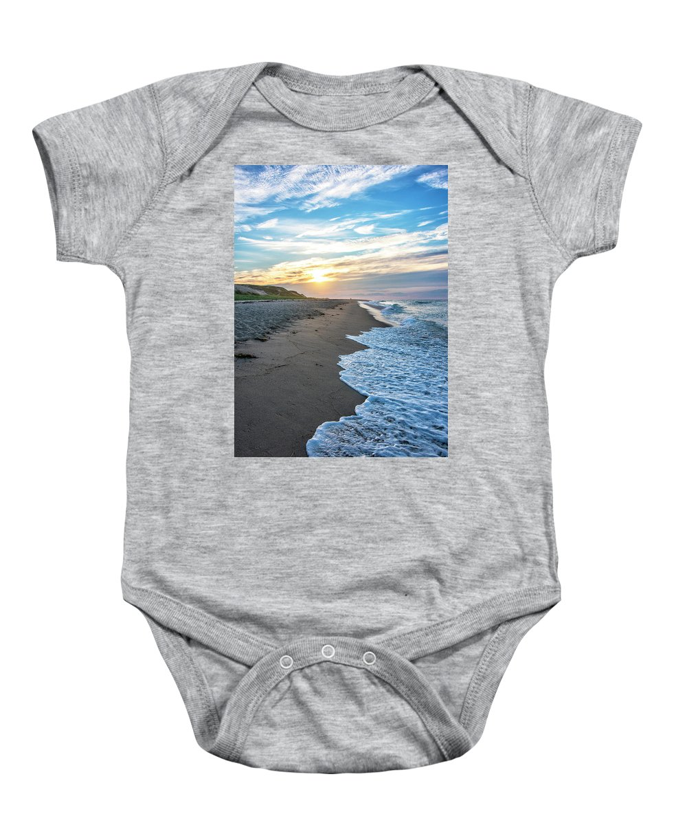 Cape Cod Sunset Baby Onesie featuring the photograph Sunset At Cape Cod National Seashore - Massachusetts by Brendan Reals
