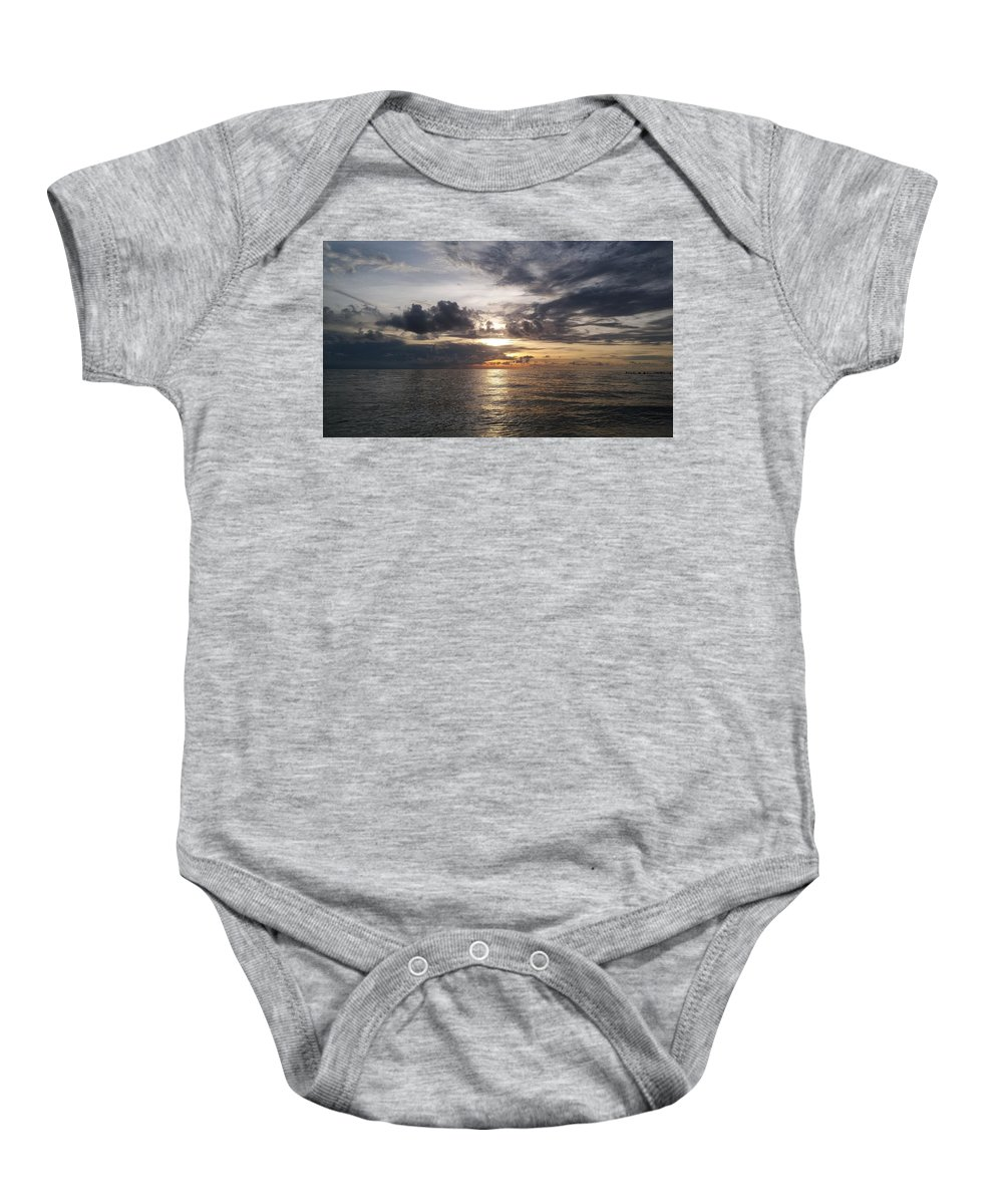 Sunset Baby Onesie featuring the photograph Sunset by Cora Jean Jugan