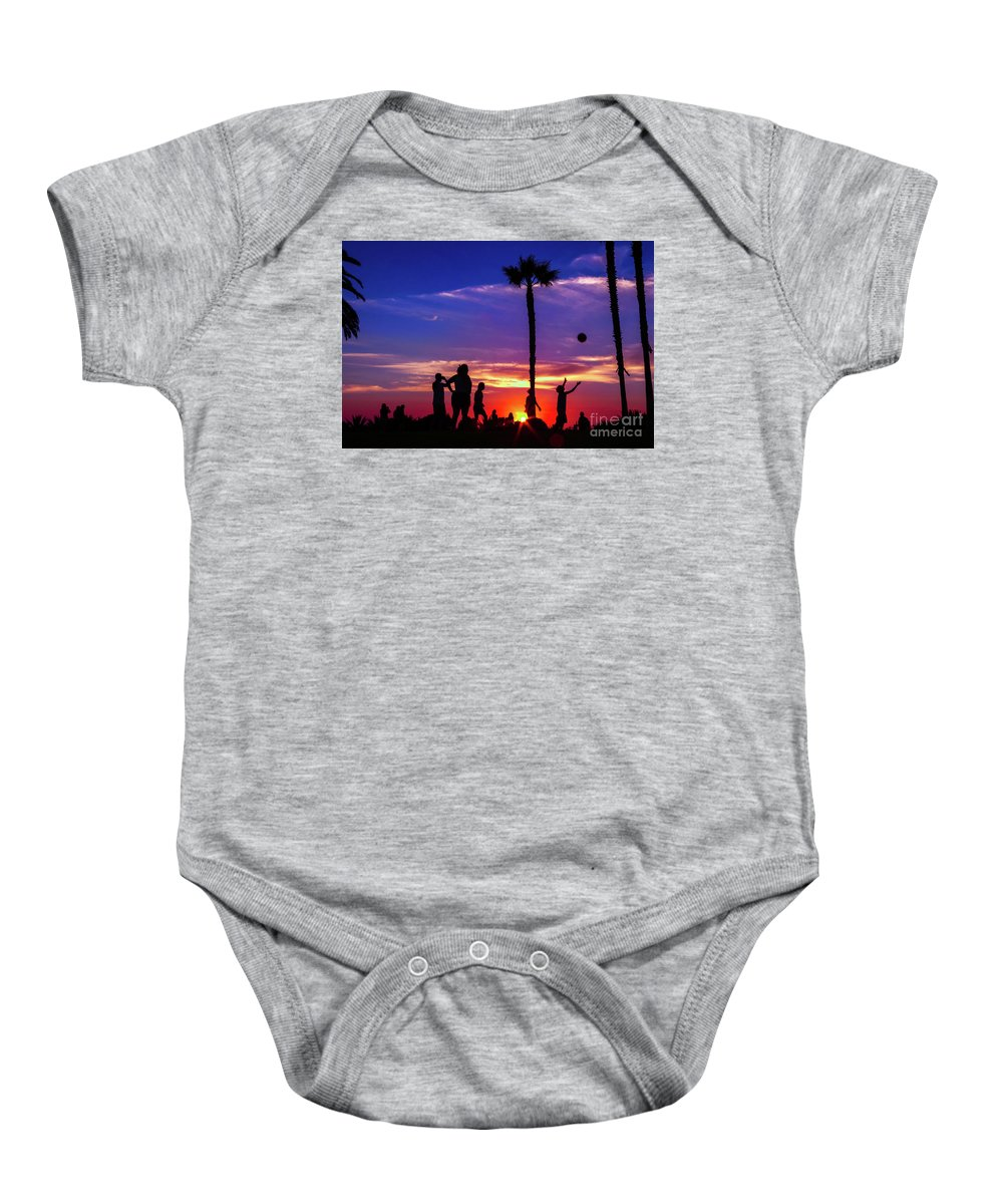 Fine Art Baby Onesie featuring the photograph Sunset by Komeil Honarmand