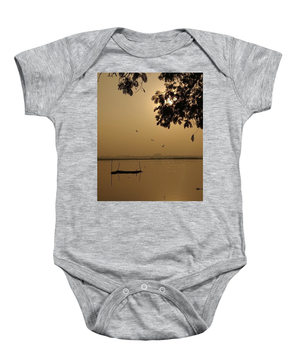 Sunset Baby Onesie featuring the photograph Sunset by Priya Hazra