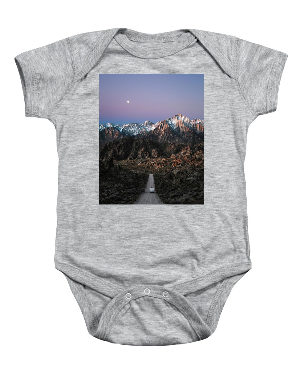 Alabama Hills Baby Onesie featuring the photograph The Mountains Are Calling by Alexander Davidovich