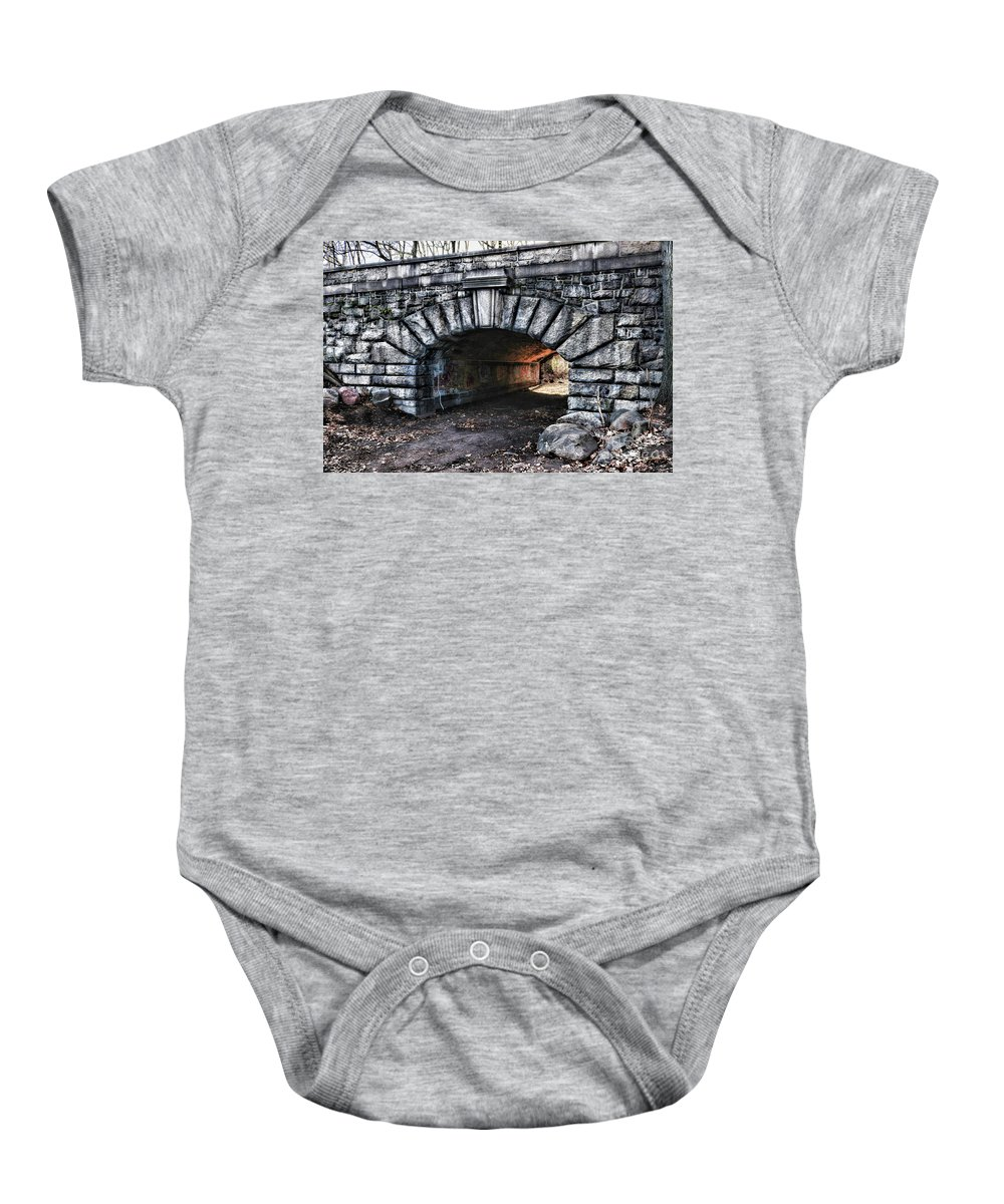 Paul Ward Baby Onesie featuring the photograph The Underpass by Paul Ward