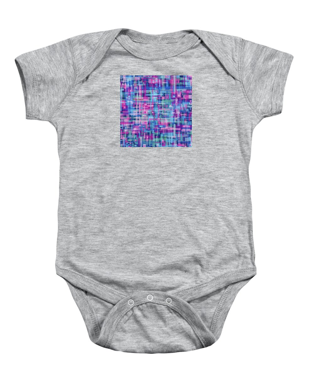 Nonobjective Baby Onesie featuring the digital art Thought Patterns #4 by James Fryer