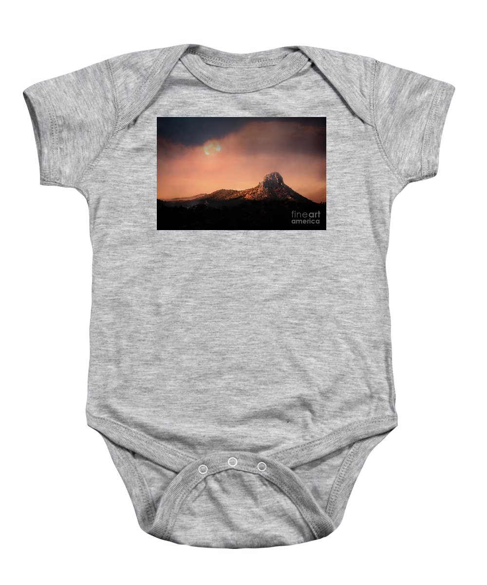 Thumb Butte Baby Onesie featuring the photograph Thumb Butte by Scott Kemper
